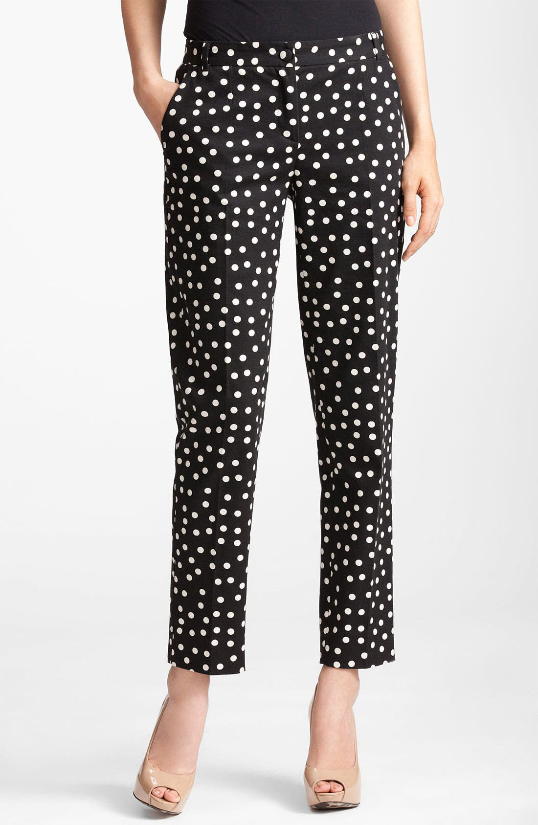 Alternate Image 1 Selected - Dolce&Gabbana Polka Dot Skinny Crop Pants