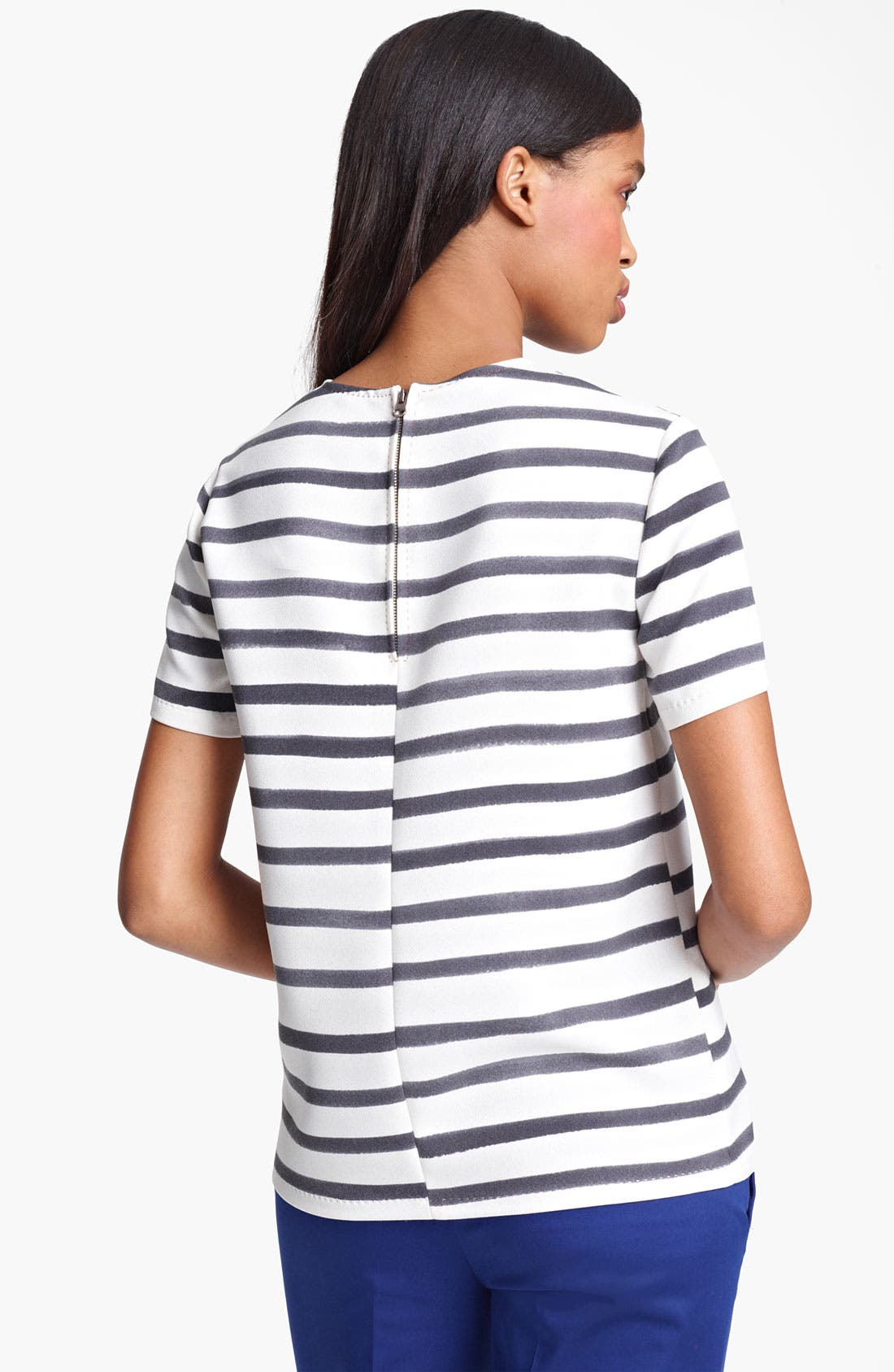 Alternate Image 2  - Moschino Cheap & Chic Stripe Cady Top