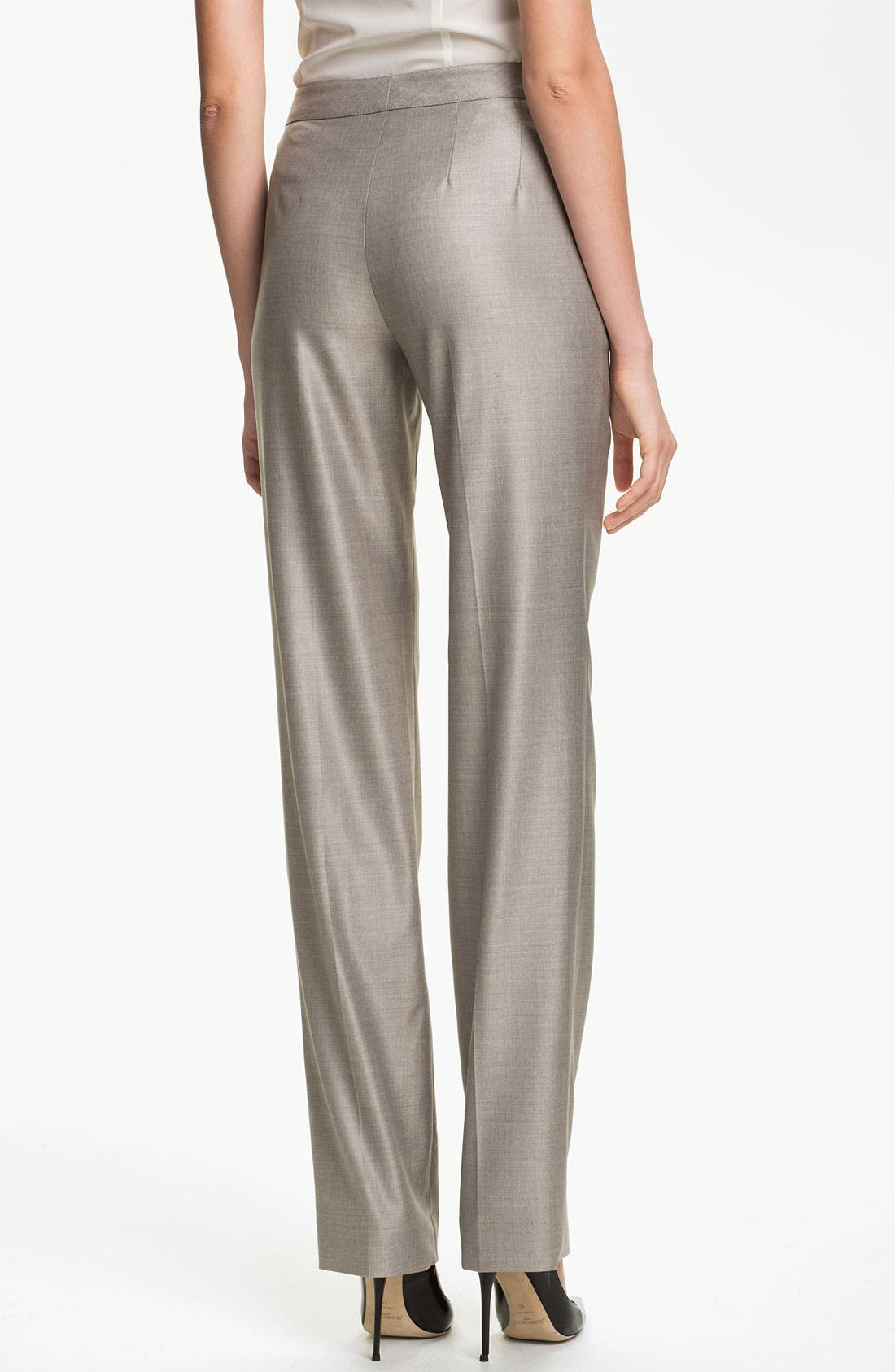 Alternate Image 3  - St. John Collection 'Diana' Straight Leg Mélange Twill Pants