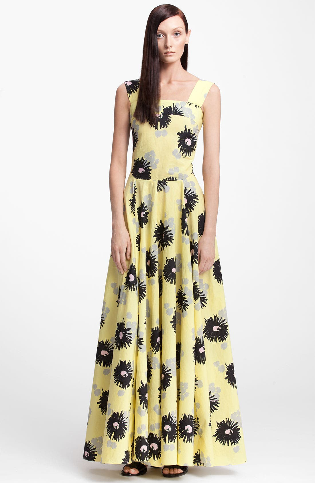 Main Image - Marni Long Floral Print Dress