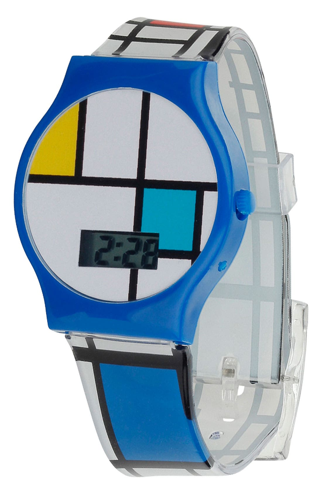 Main Image - Topman Geo Print Digital Watch