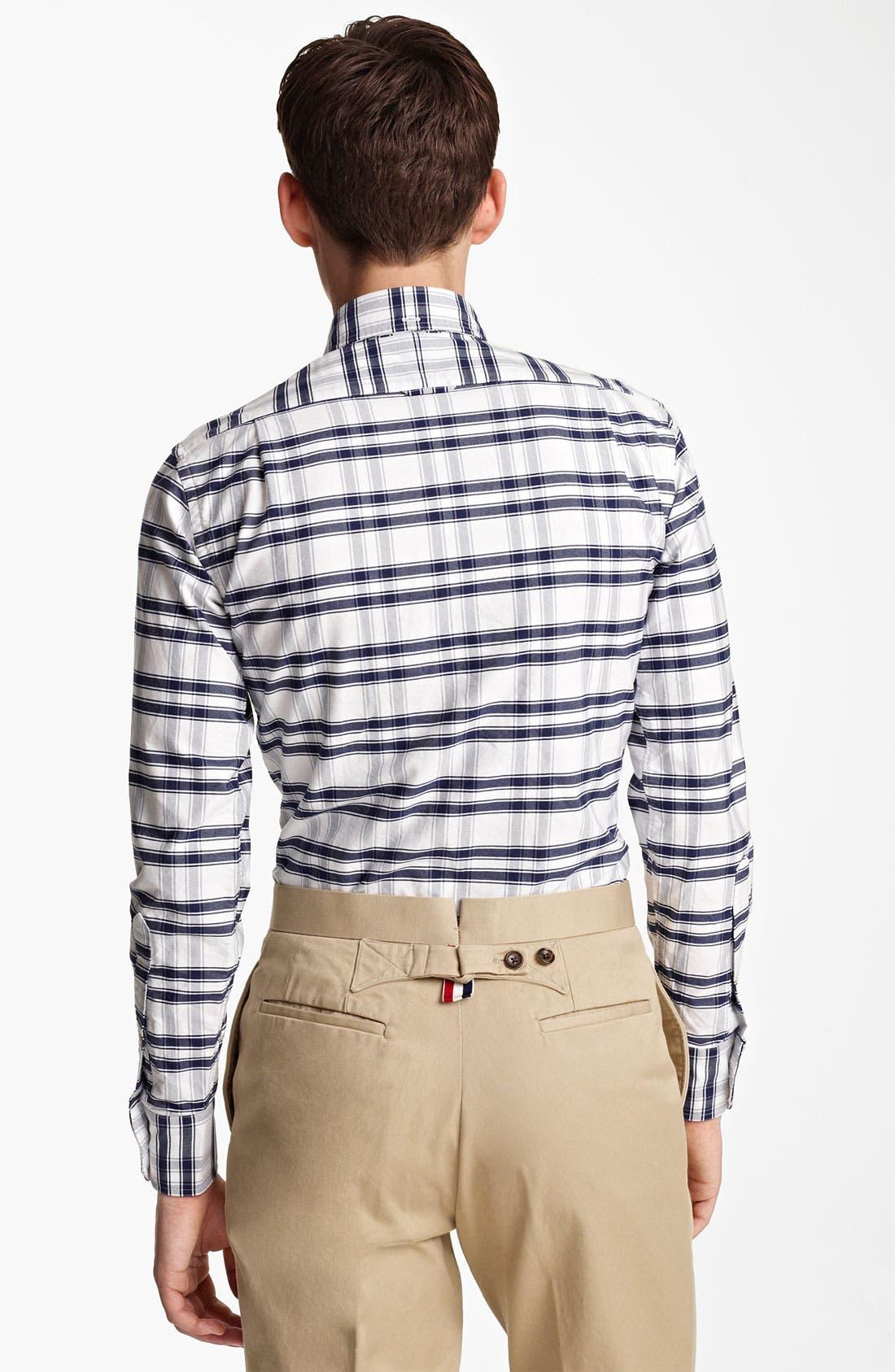 Alternate Image 2  - Thom Browne Check Oxford Shirt