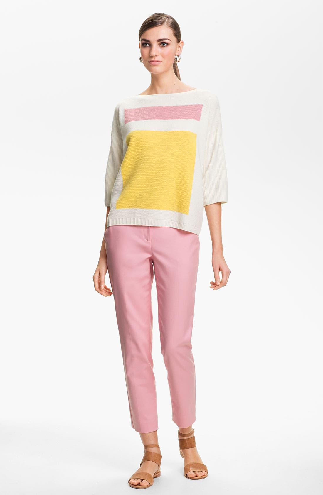 Alternate Image 2  - St. John Yellow Label Colorblock Popcorn Knit Sweater