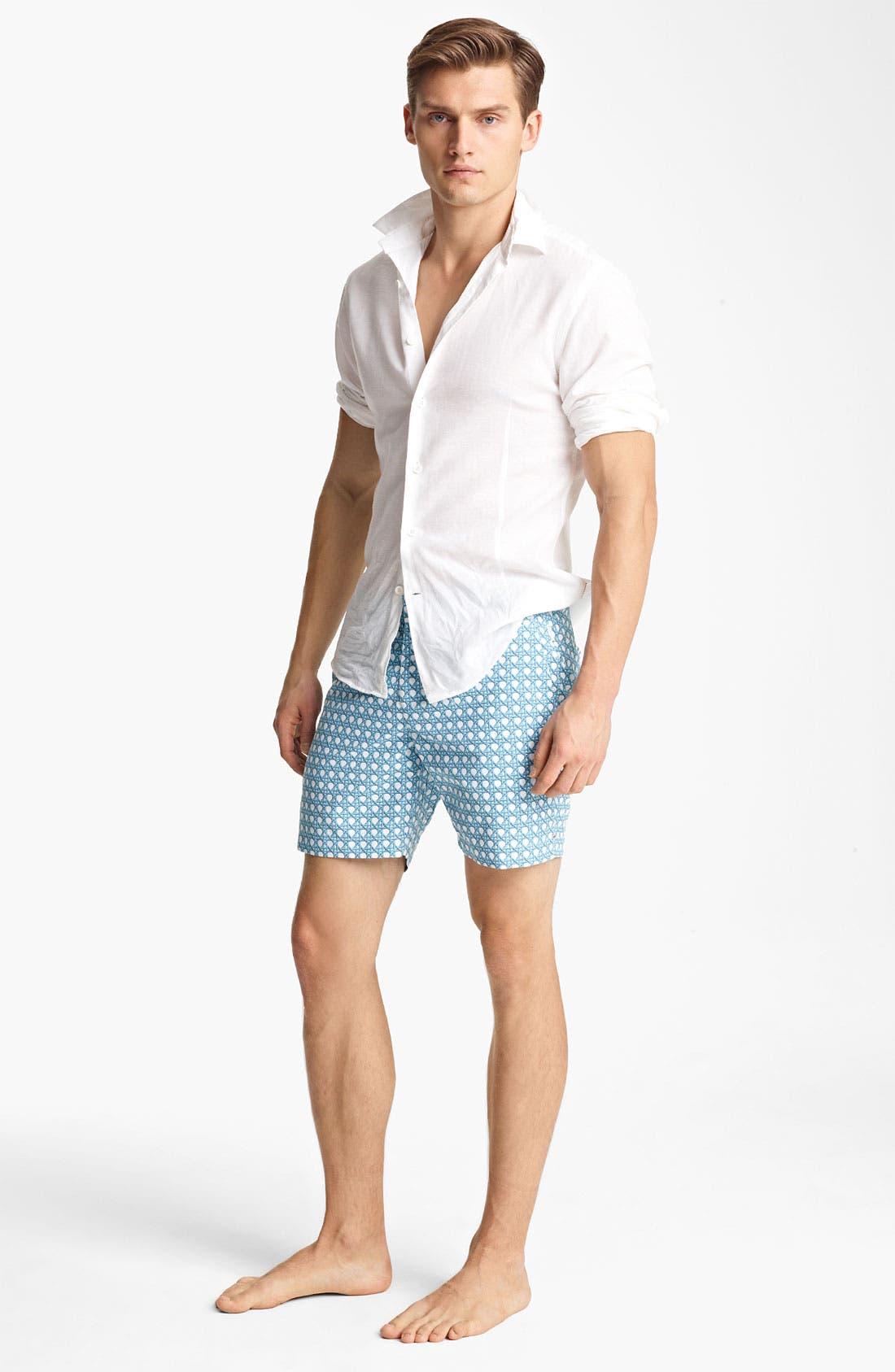 Alternate Image 4  - Orlebar Brown 'Fleming' Linen Blend Shirt