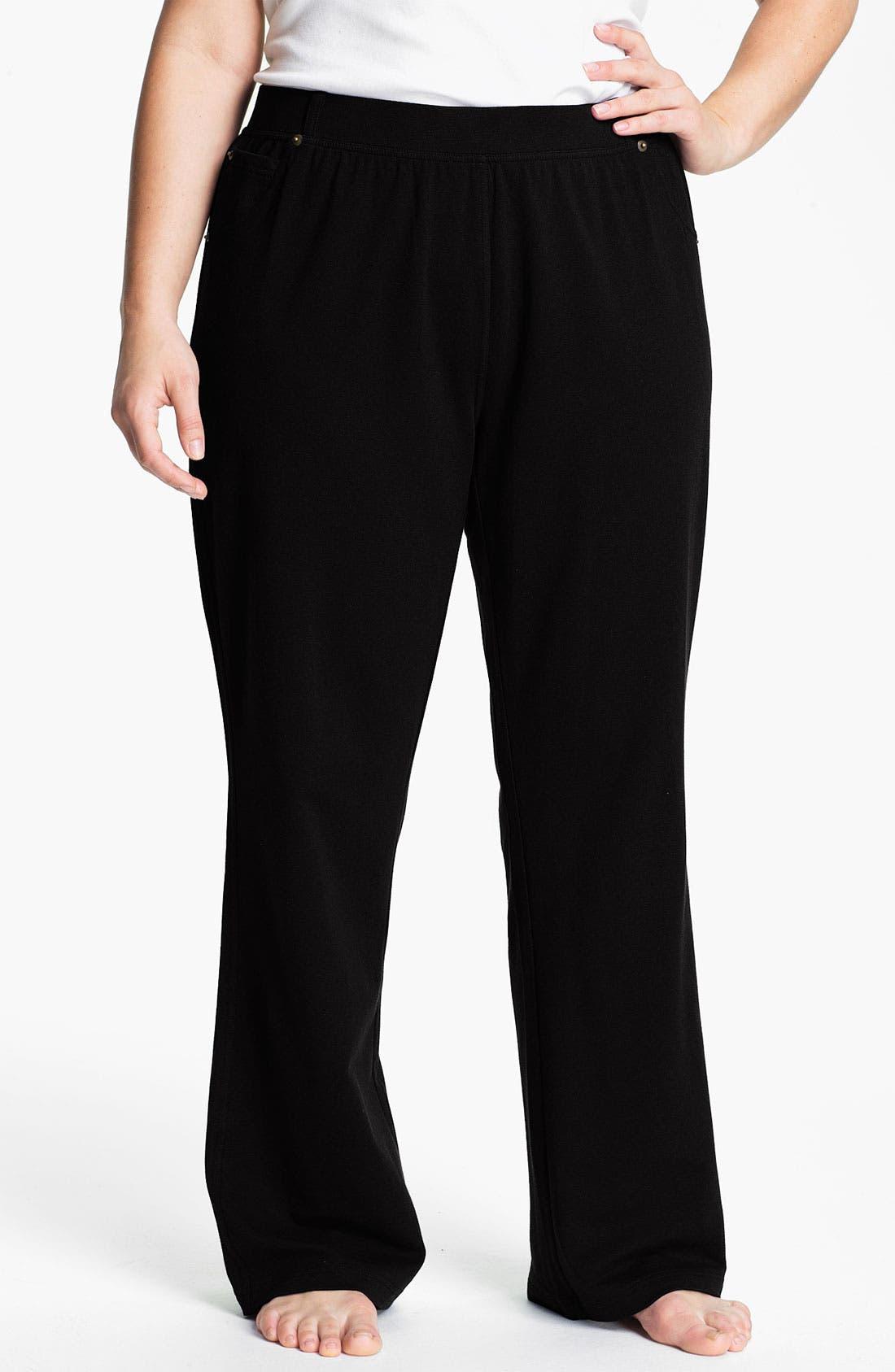 Main Image - Sejour Faux Pocket Knit Pants (Plus)