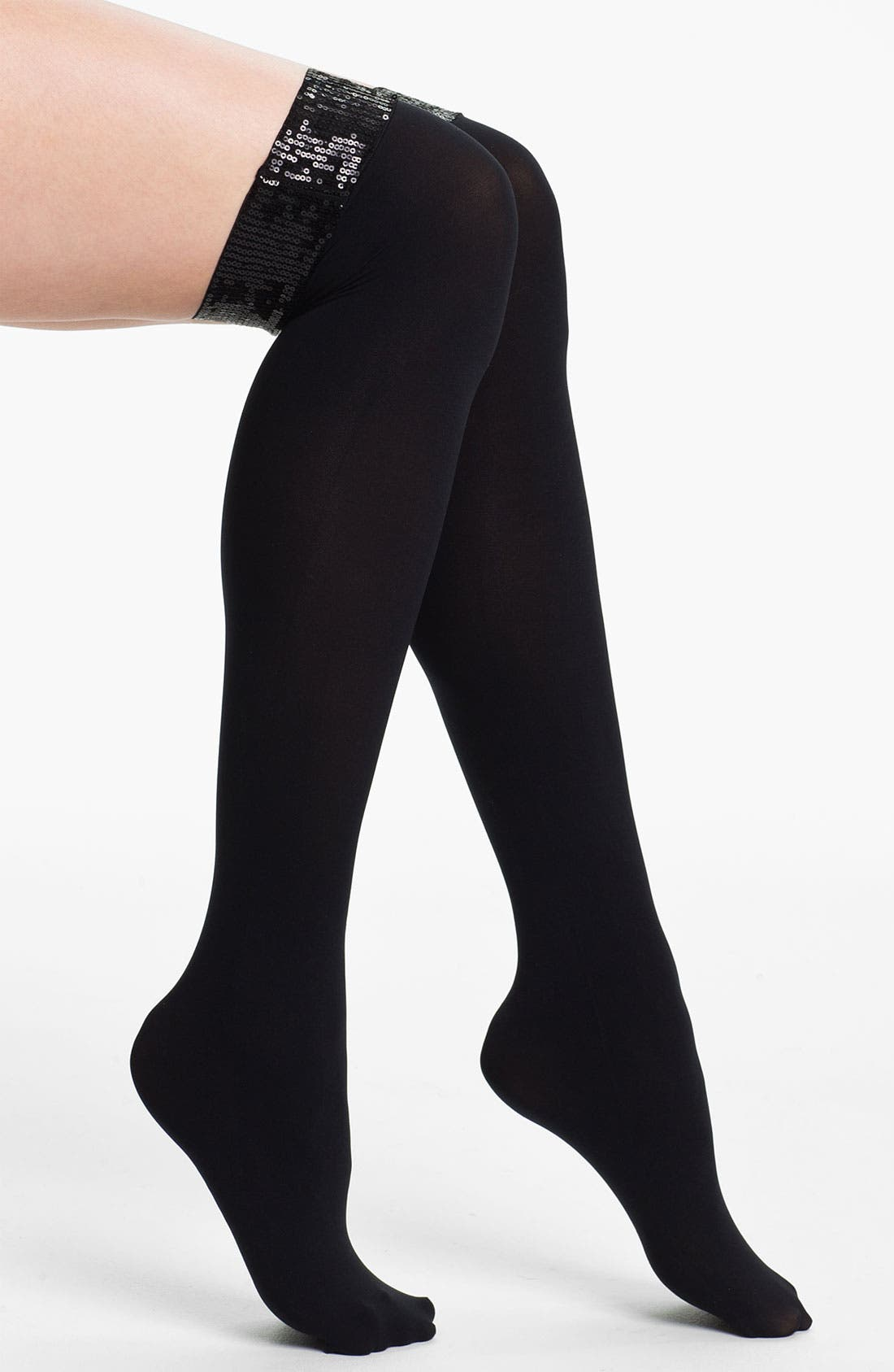 Alternate Image 1 Selected - DKNY Sequined Over the Knee Socks