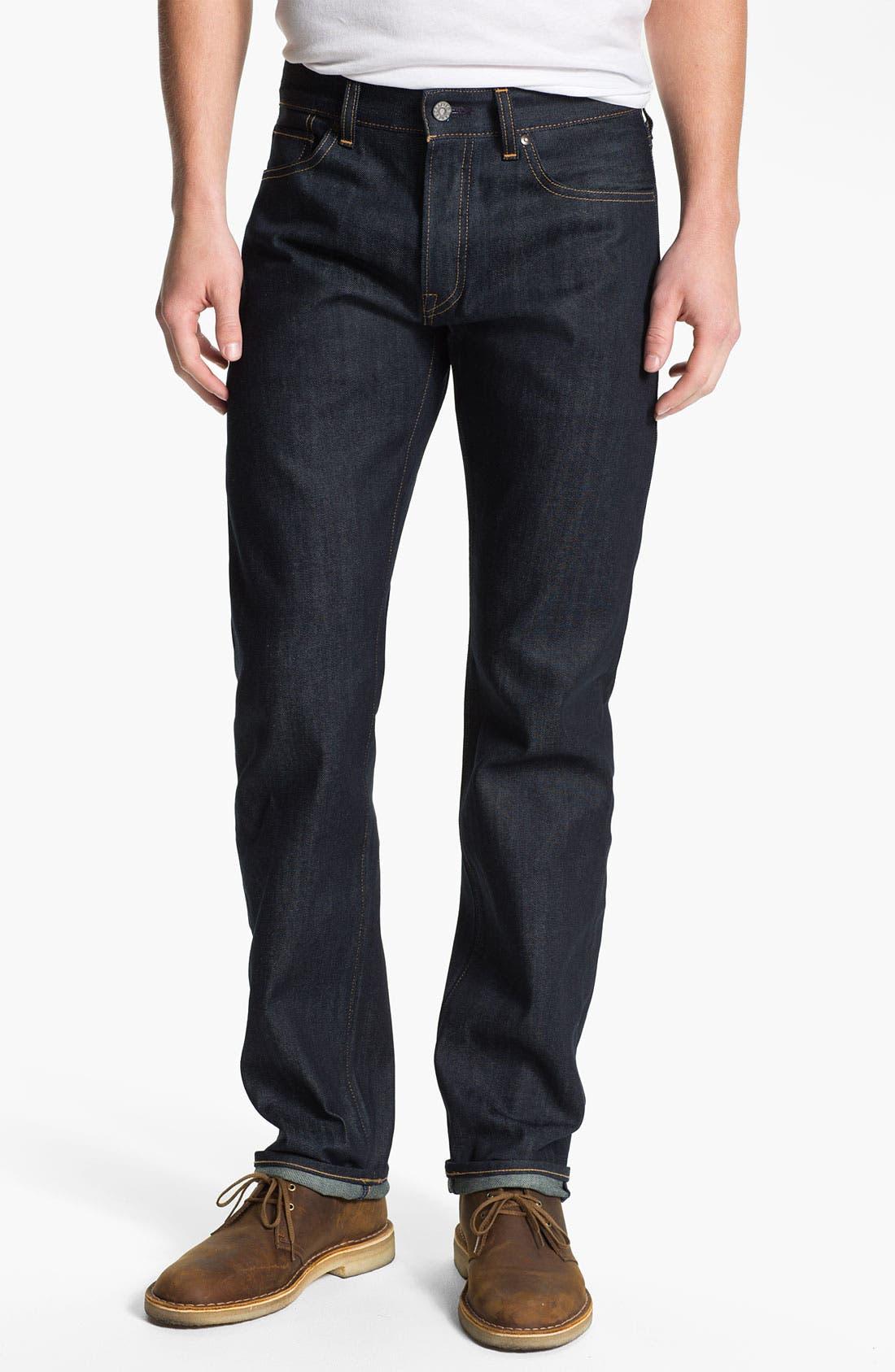 Alternate Image 1 Selected - Levi's® Made & Crafted™ 'Ruler' Straight Leg Jeans (Indigo Rigid)