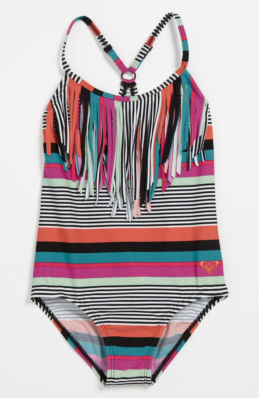 Alternate Image 1 Selected - 'Wave' Fringed Swimsuit (Little Girls)