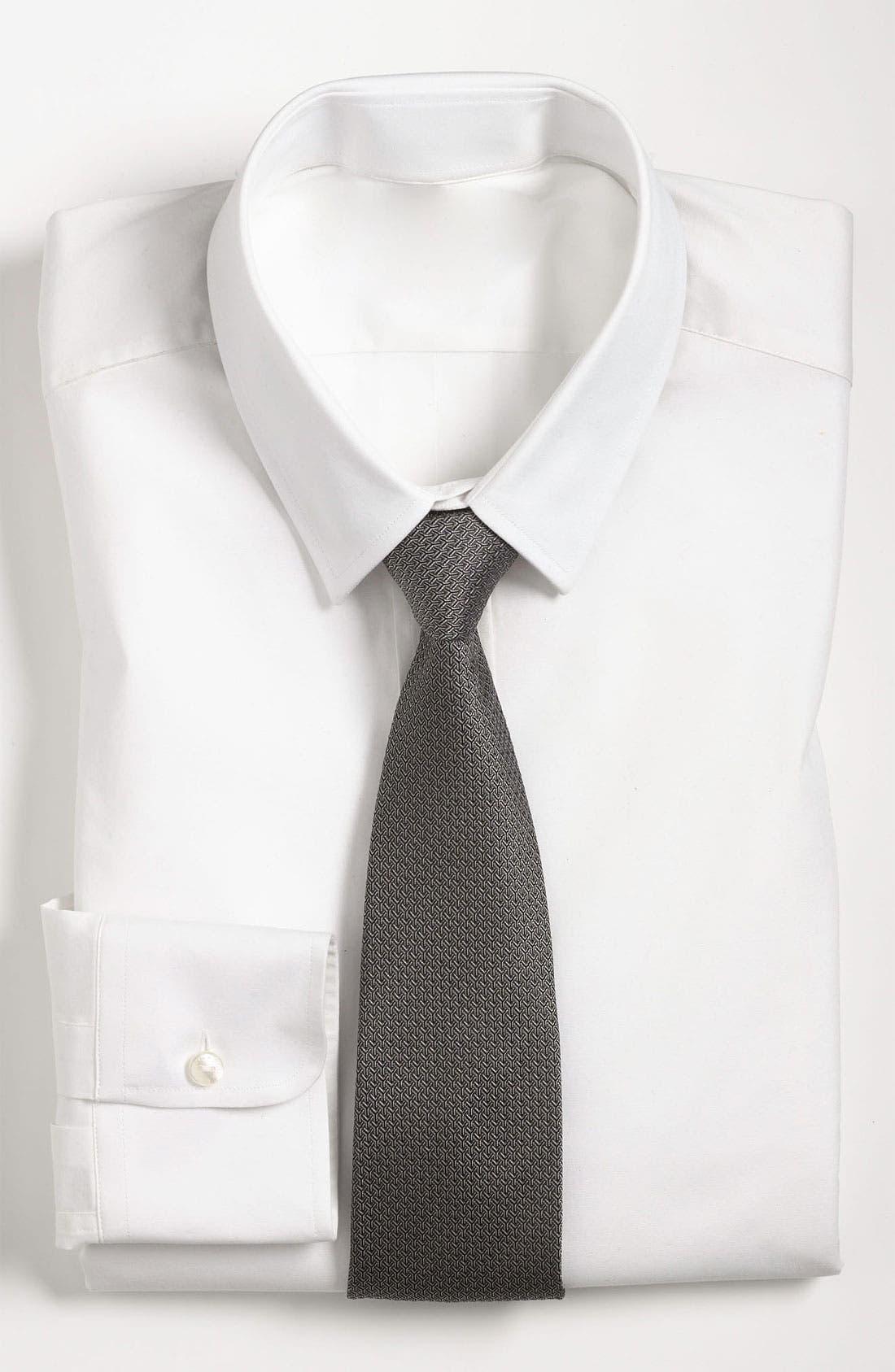 Alternate Image 1 Selected - Yves Saint Laurent Y Pattern Woven Silk Tie