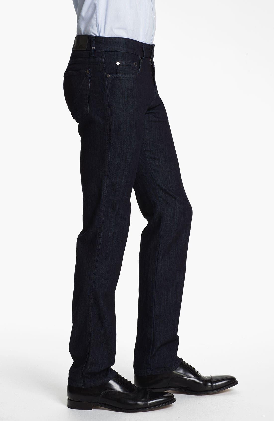 Alternate Image 3  - Z Zegna Straight Leg Jeans (Black)