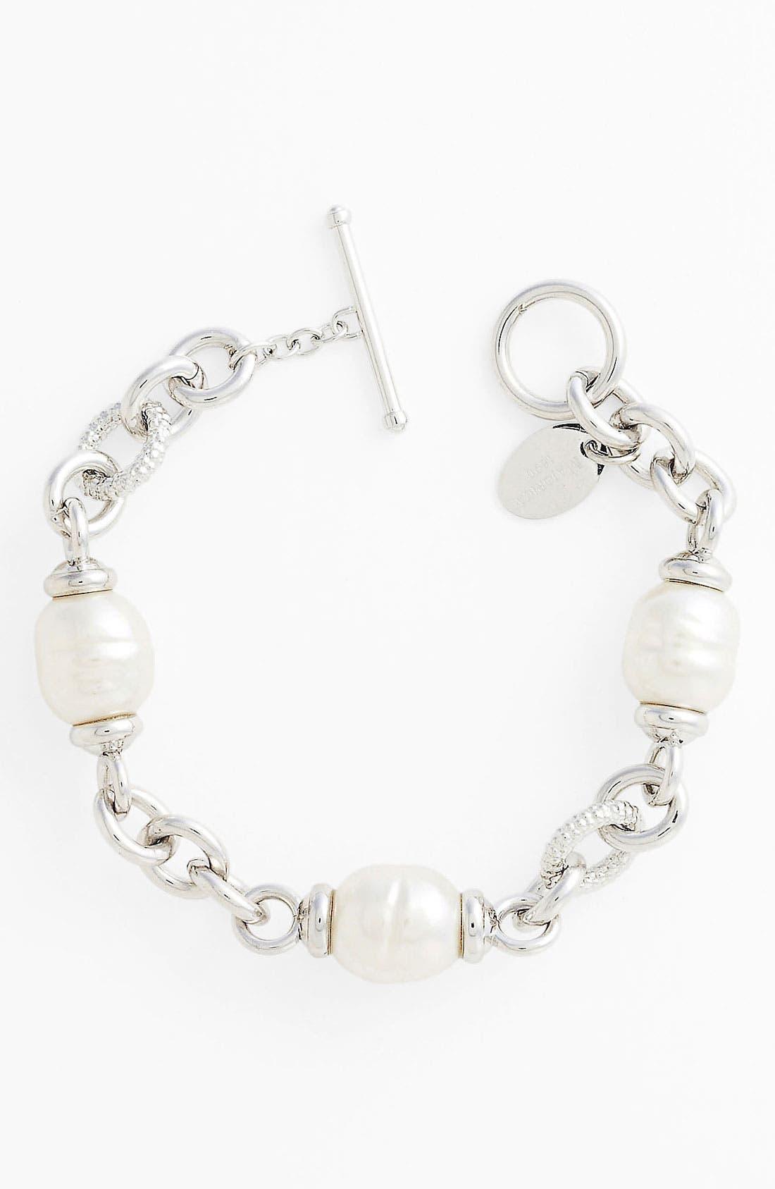 Main Image - Majorica 12mm Baroque Pearl Line Bracelet