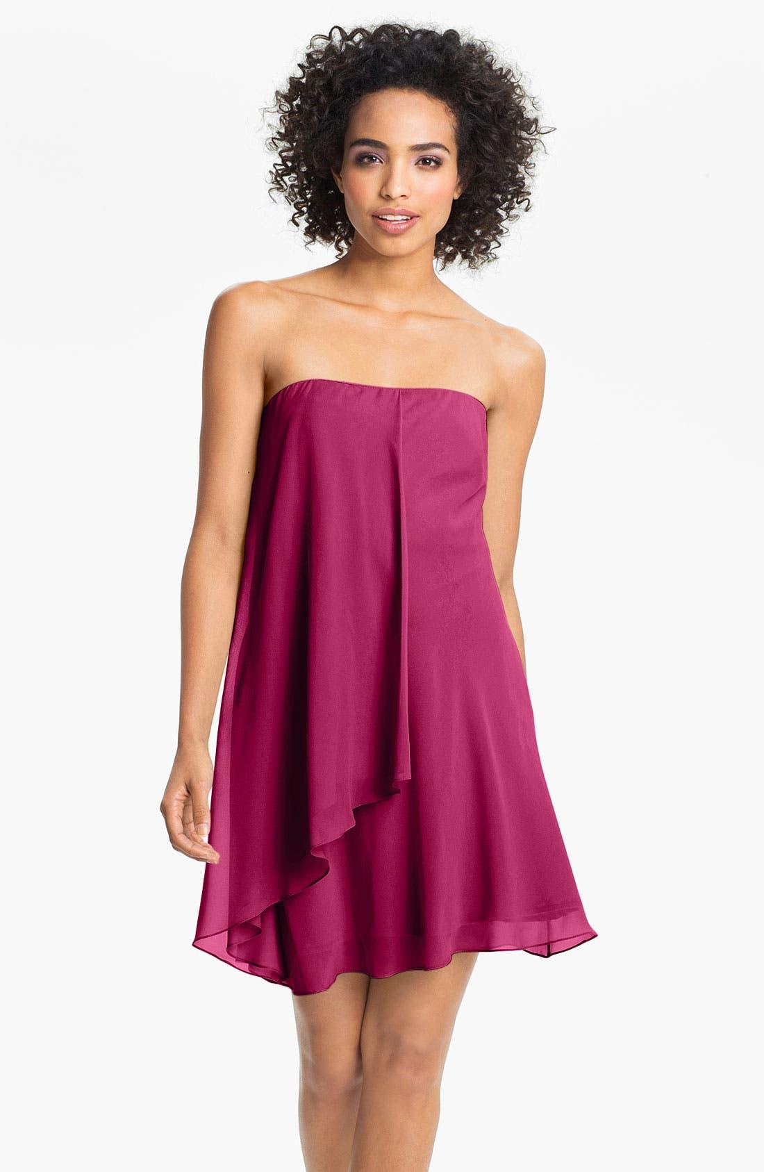 Main Image - Suzi Chin for Maggy Boutique Silk Chiffon Dress