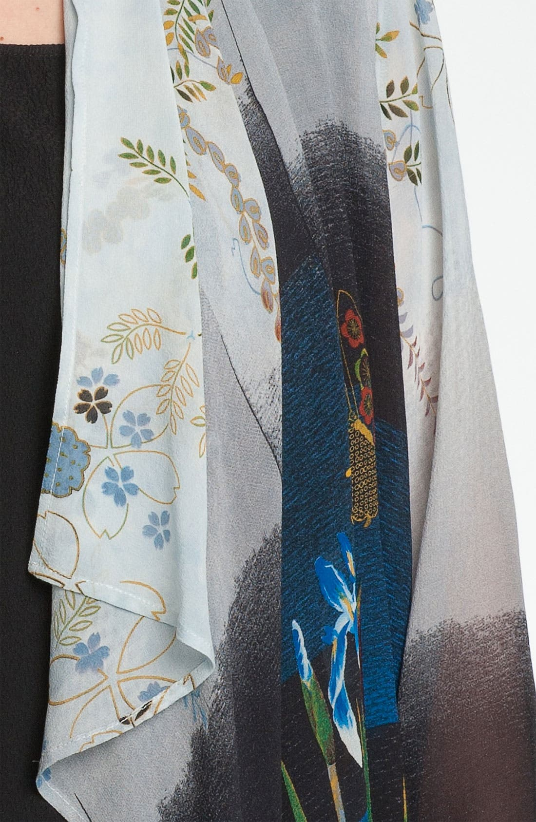 Alternate Image 3  - Citron Floral Print Silk Jacket