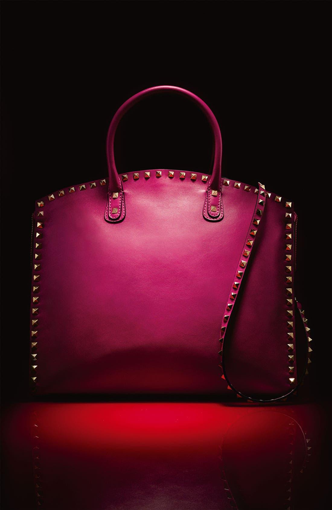 Alternate Image 5  - Valentino 'Rockstud' Leather Dome Satchel