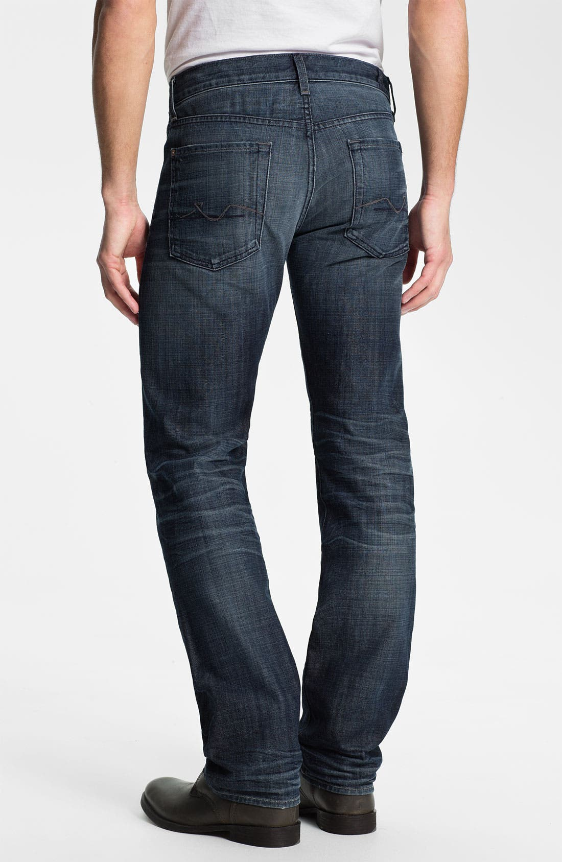 Main Image - 7 For All Mankind® 'Standard' Straight Leg Jeans (Crater Lake)