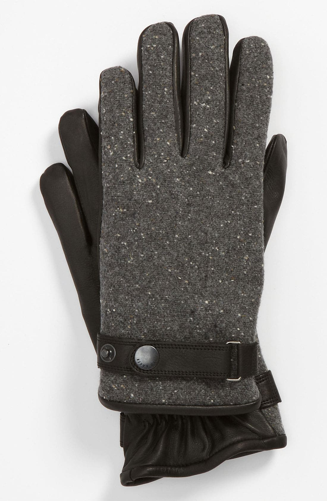 Alternate Image 1 Selected - Ted Baker London Tweed & Leather Gloves