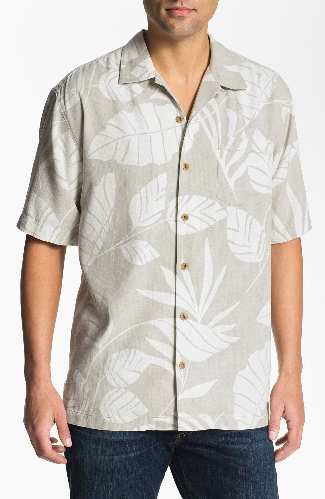 Alternate Image 1 Selected - Tommy Bahama 'Tommy from the Block' Silk Campshirt