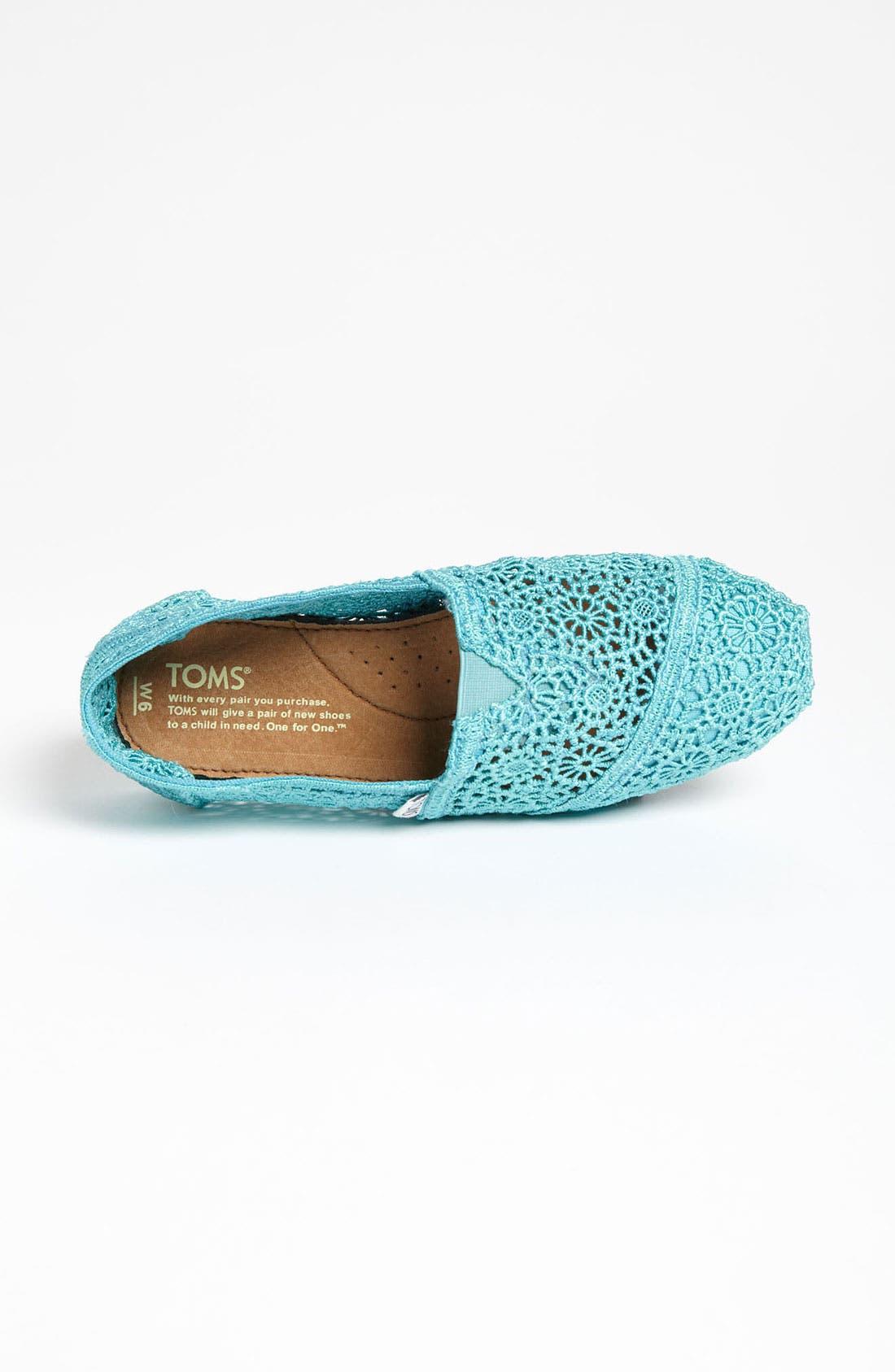 Alternate Image 4  - TOMS 'Classic' Crochet Slip-On (Women)