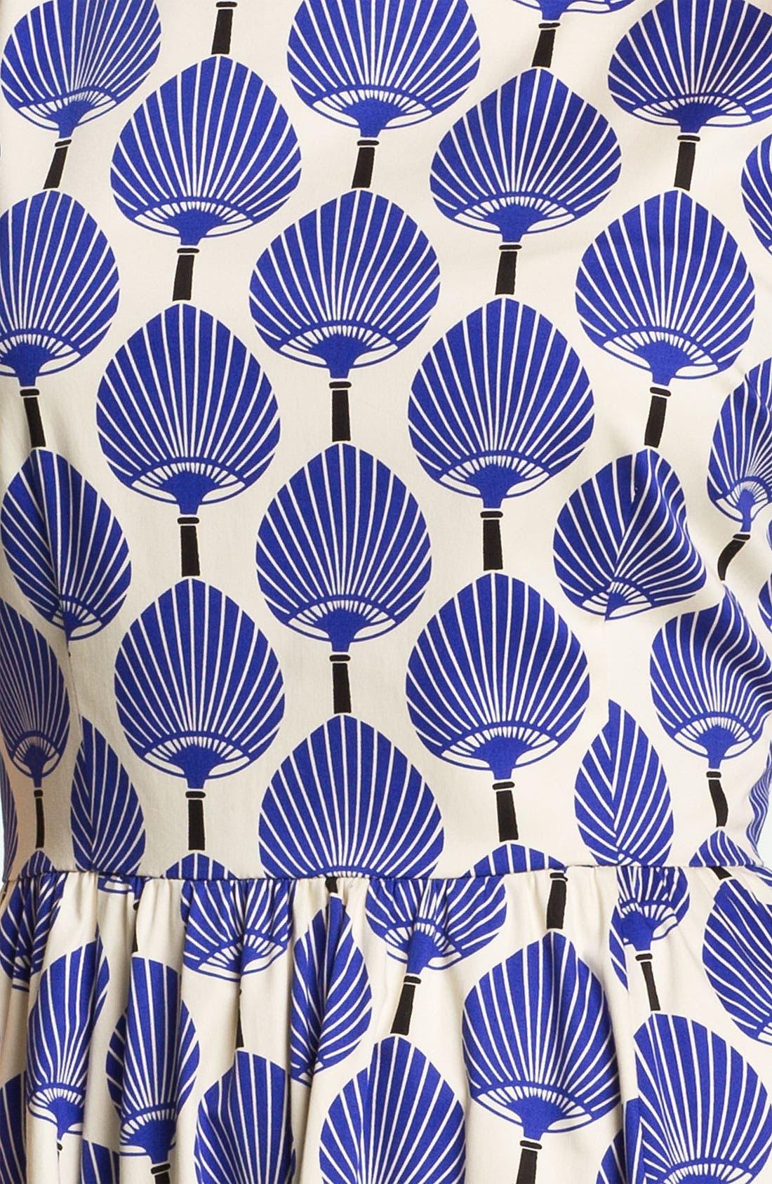 Alternate Image 3  - kate spade new york 'matty' stretch cotton fit & flare dress