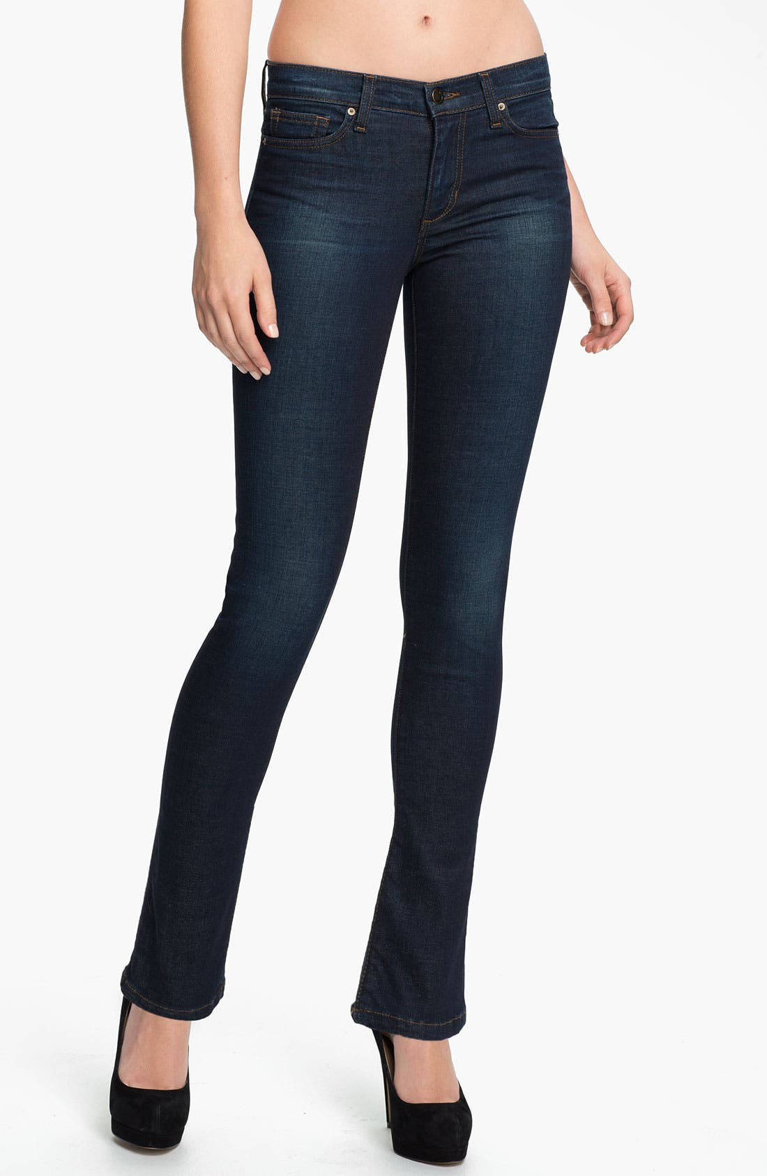 Alternate Image 1 Selected - Joe's Straight Leg Stretch Jeans (Arielle) (Petite)