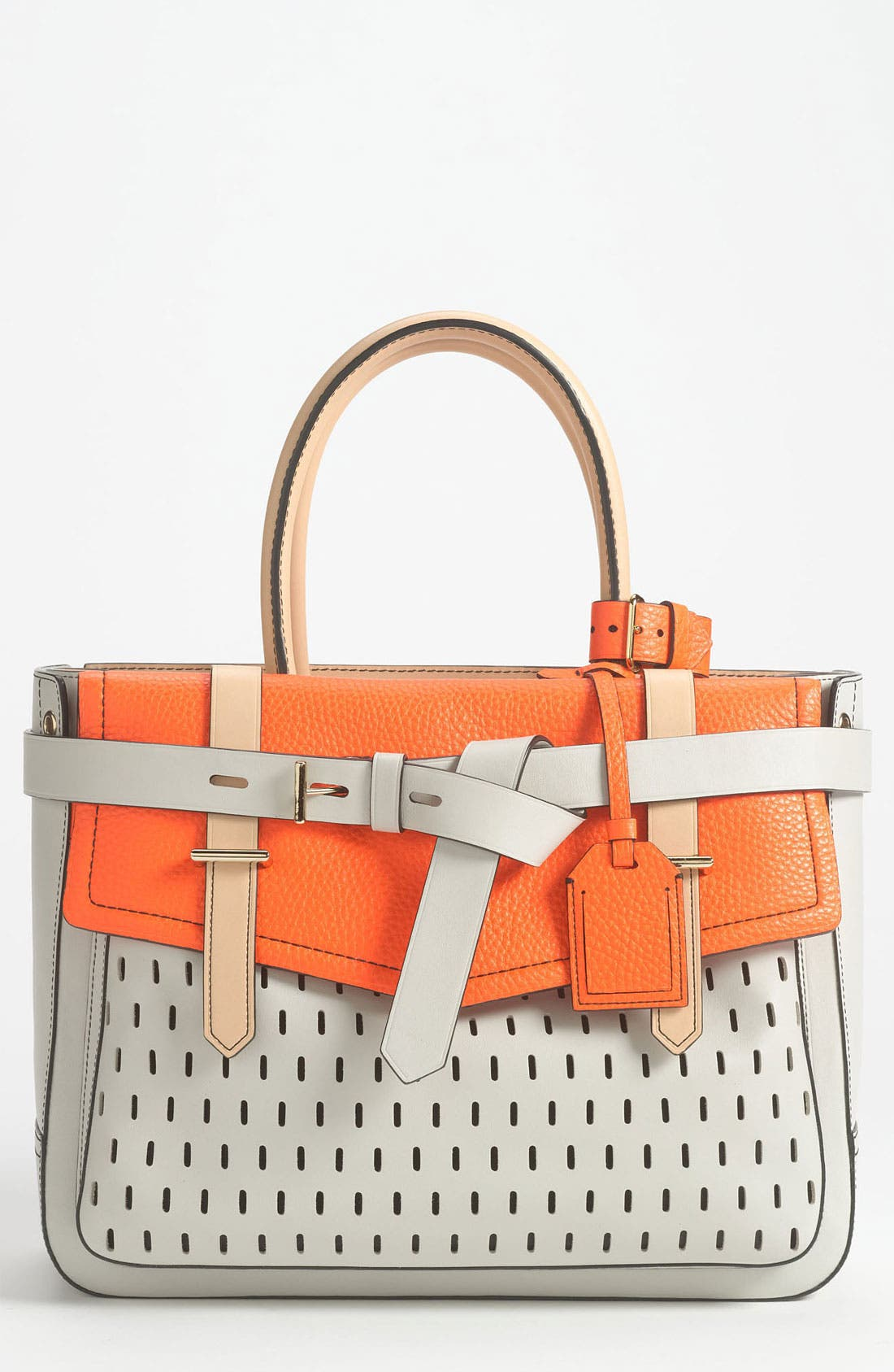 Alternate Image 1 Selected - Reed Krakoff 'Boxer' Perforated Leather Satchel
