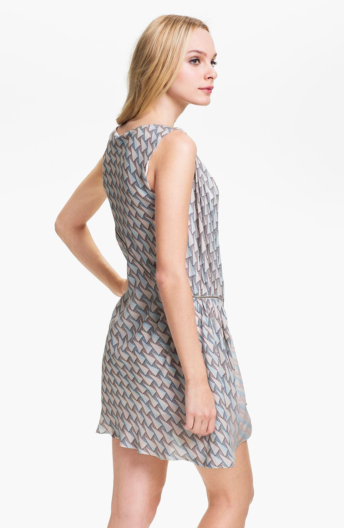 Alternate Image 2  - Rebecca Minkoff 'Cheer' Zip Detail Silk Dress