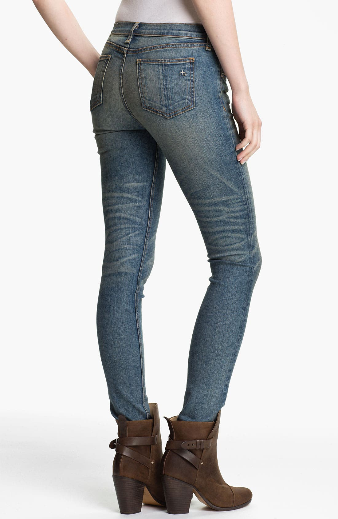 Alternate Image 2  - rag & bone/JEAN Stretch Skinny Jeans