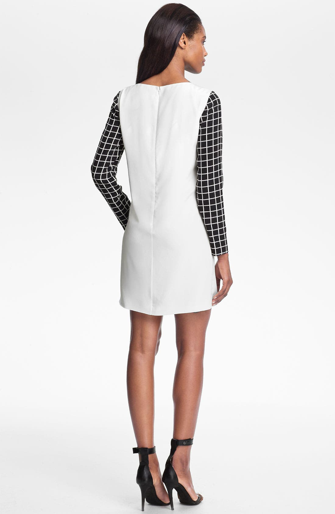 Alternate Image 2  - Tibi Windowpane Silk Shift Dress