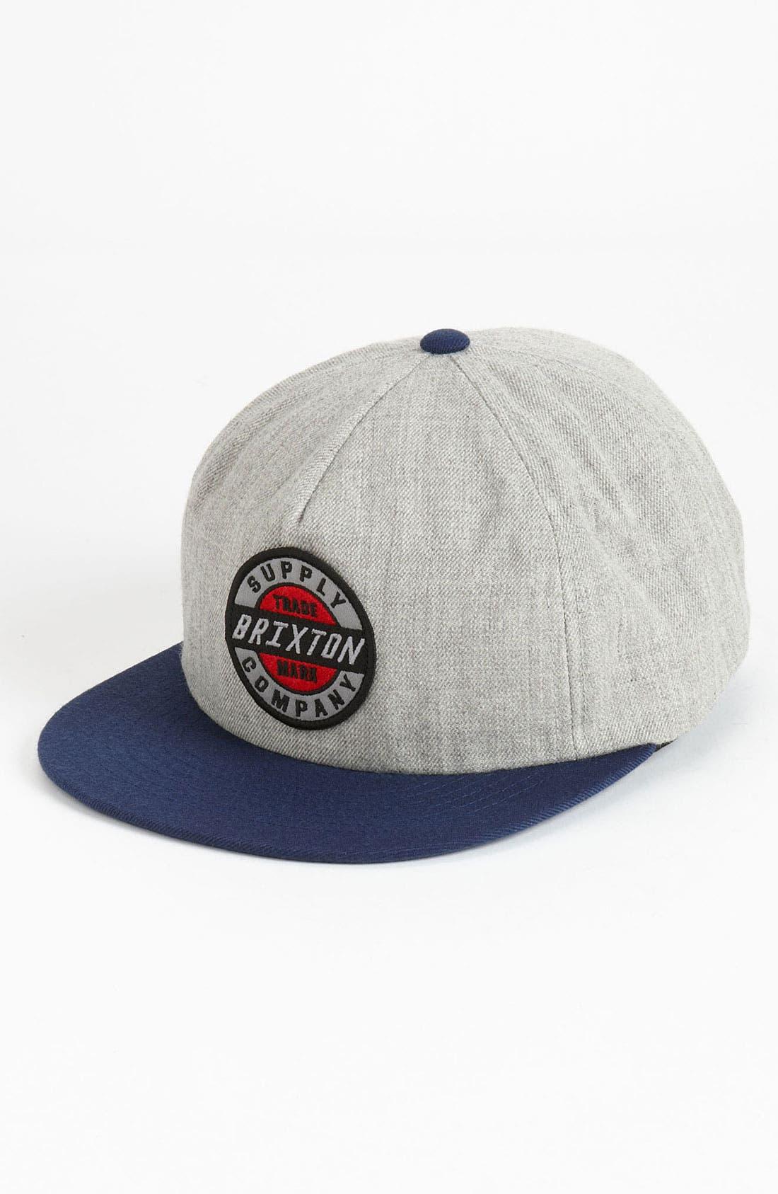 Main Image - Brixton 'Council' Snapback Baseball Cap