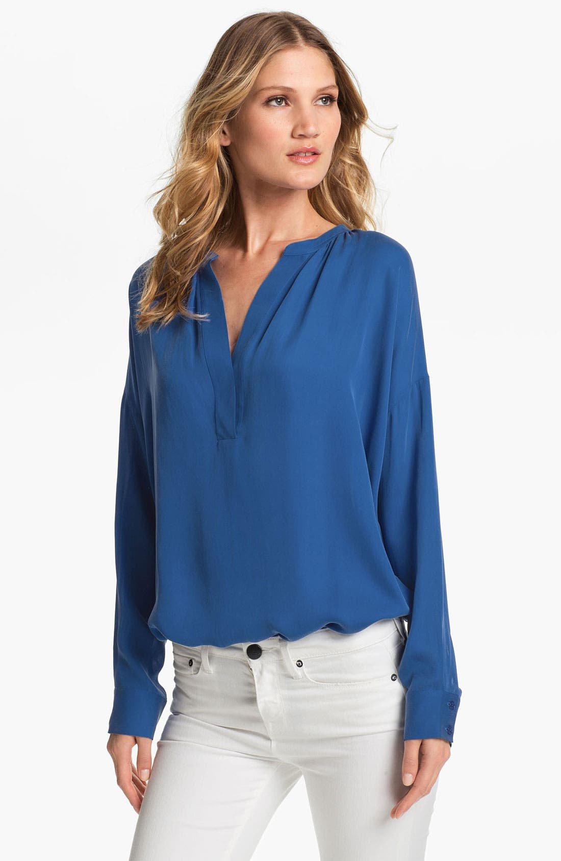 Alternate Image 1 Selected - Vince 'Popover' Silk Tunic