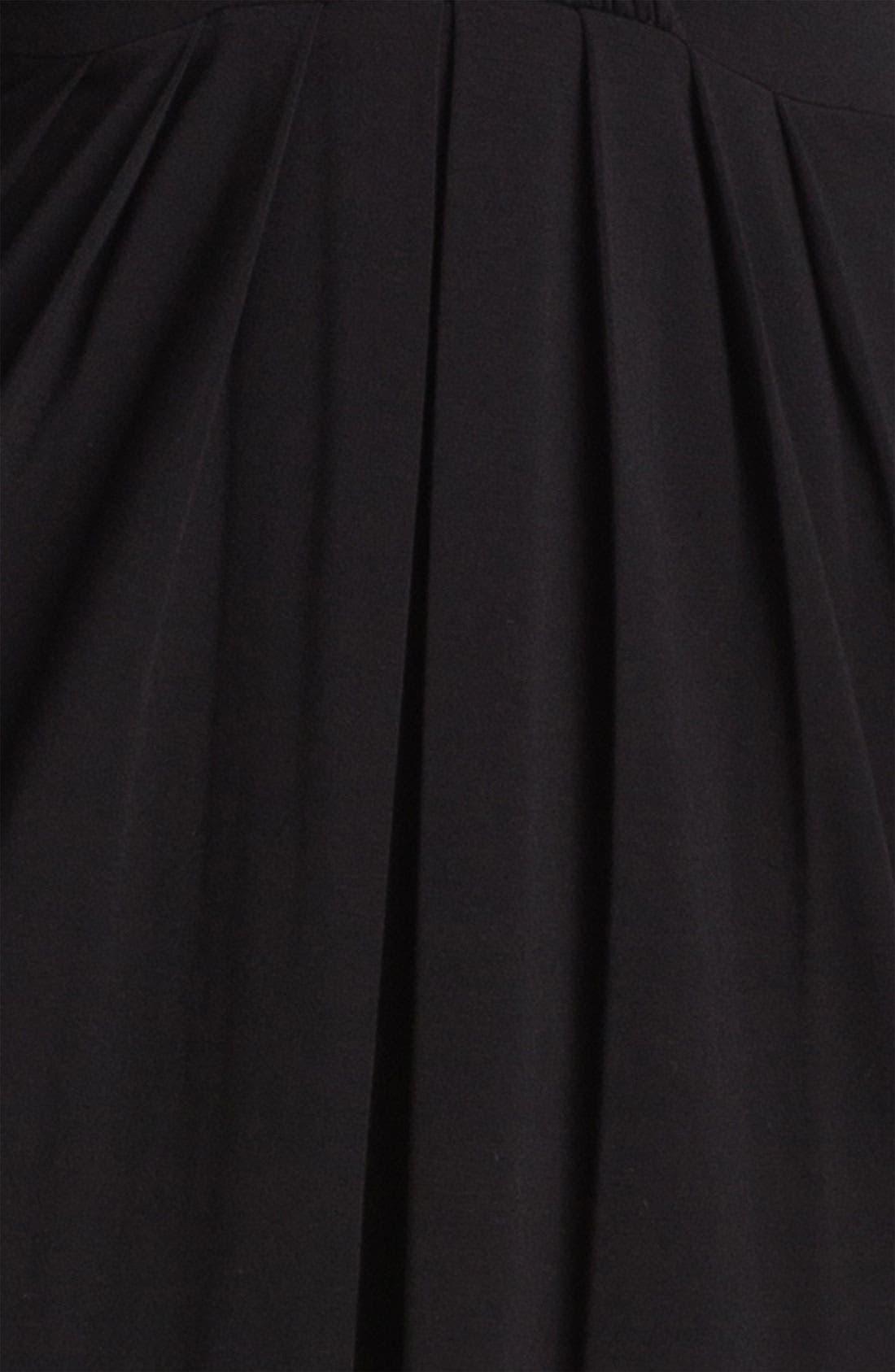 Alternate Image 3  - Karen Kane Shirred Faux Wrap Dress (Online Exclusive)