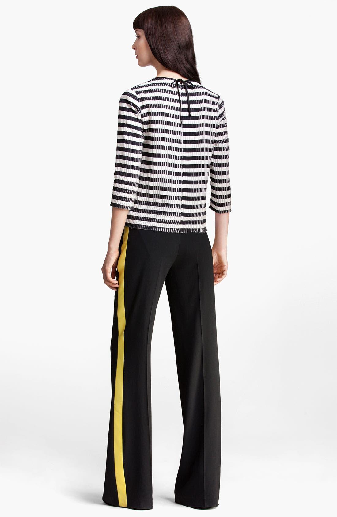 Alternate Image 3  - MSGM Stripe Silk & Cotton Top