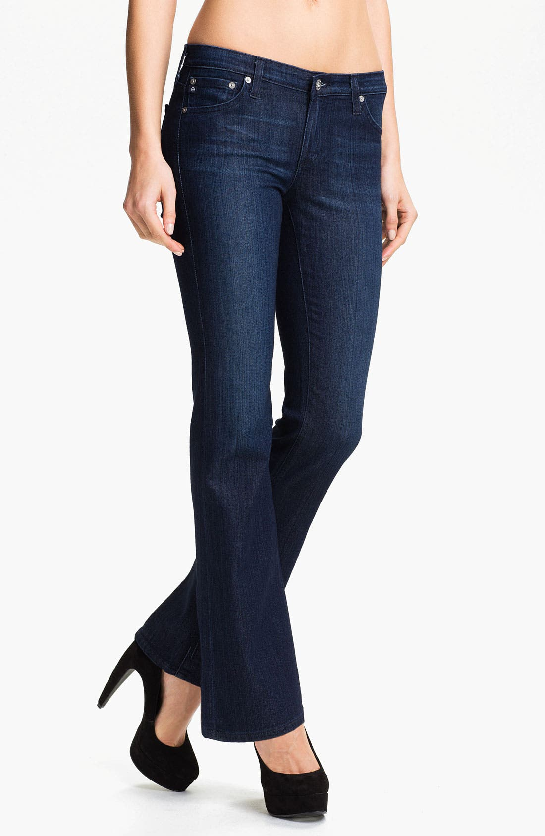 Alternate Image 1 Selected - AG Jeans 'Angelina' Petite Bootcut Jeans (Willow)