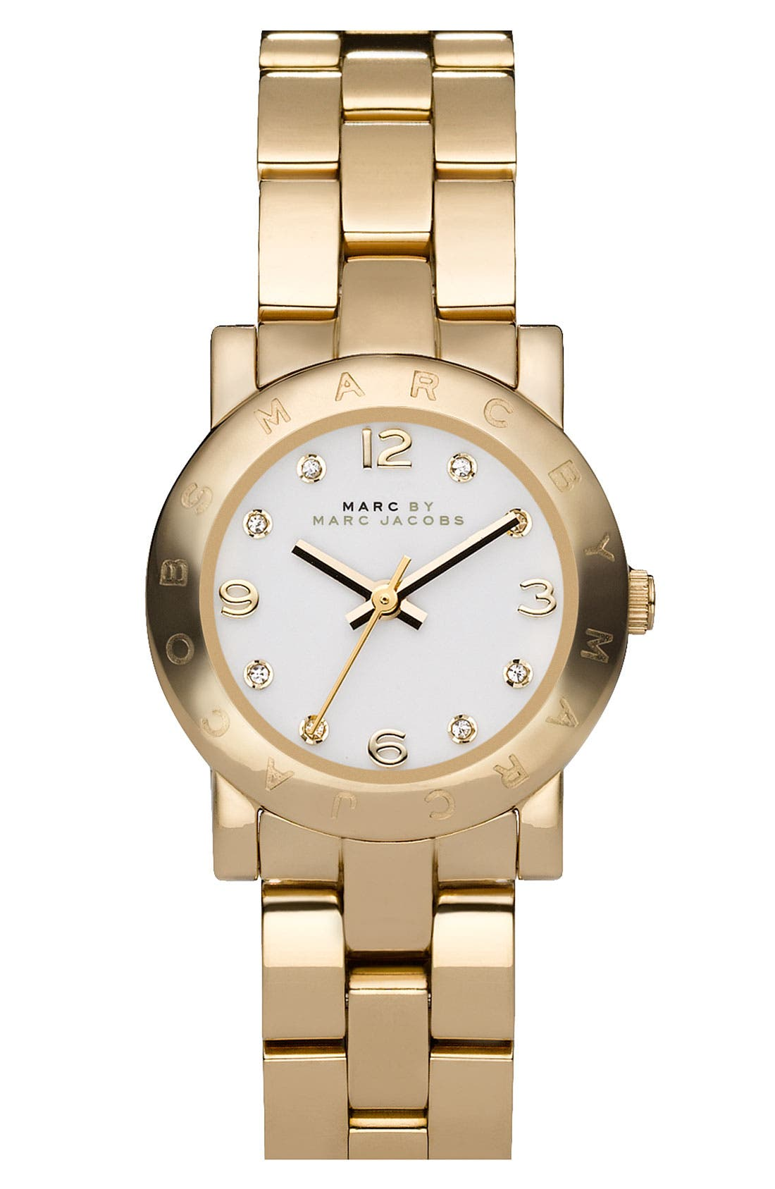Alternate Image 1 Selected - MARC JACOBS 'Small Amy' Crystal Bracelet Watch, 26mm