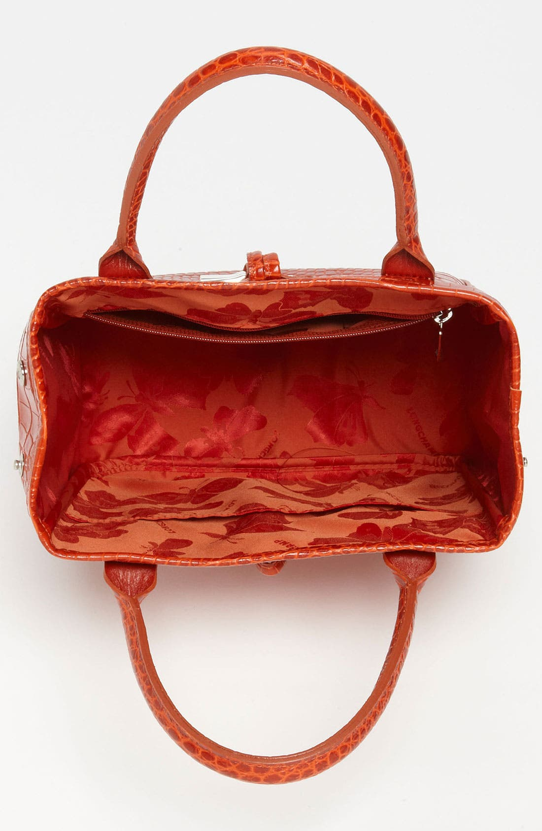 Alternate Image 3  - Longchamp 'Roseau' Croc Embossed Tote