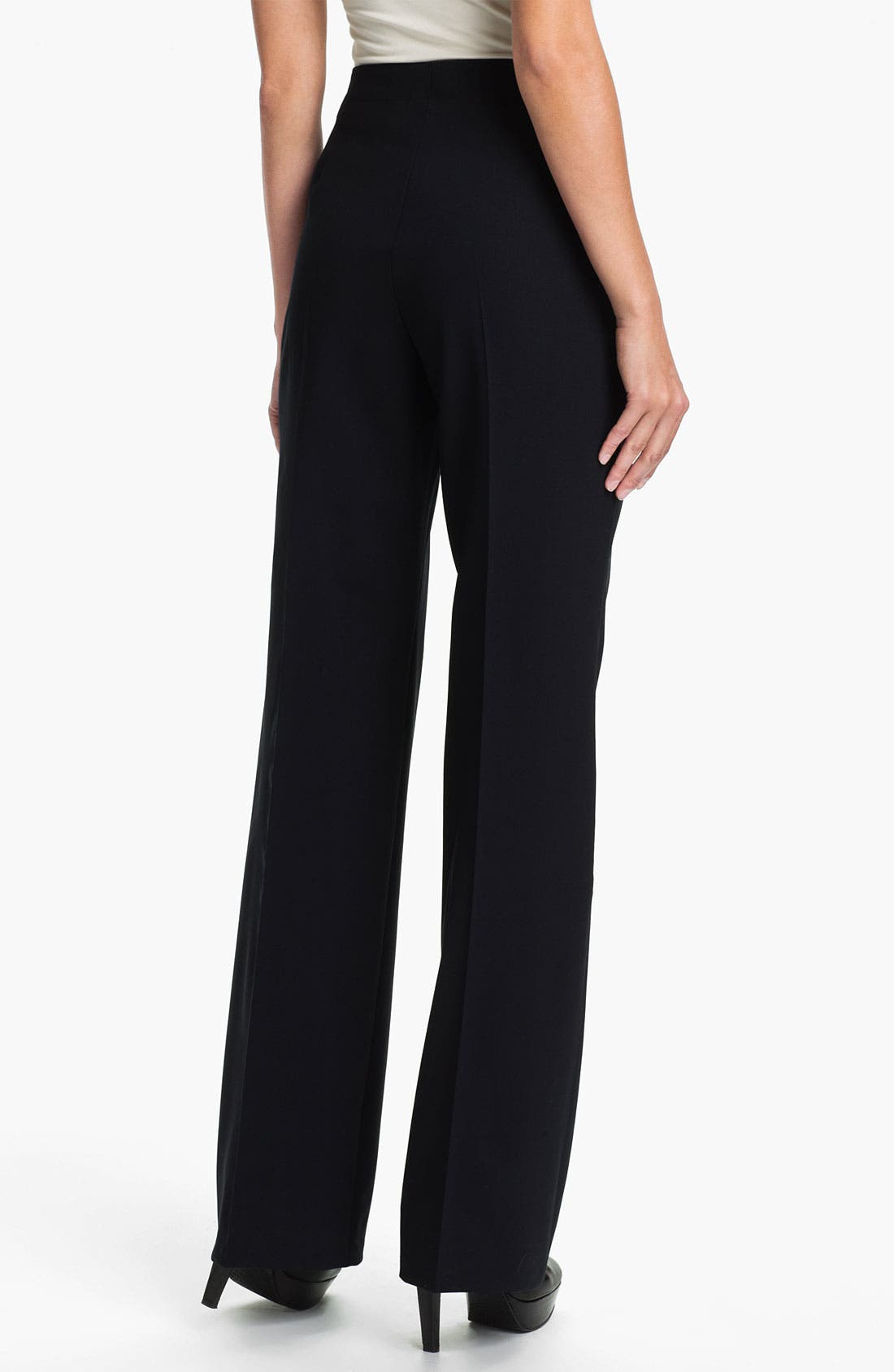 Alternate Image 2  - Santorelli 'Gina' Straight Leg Wool Trousers