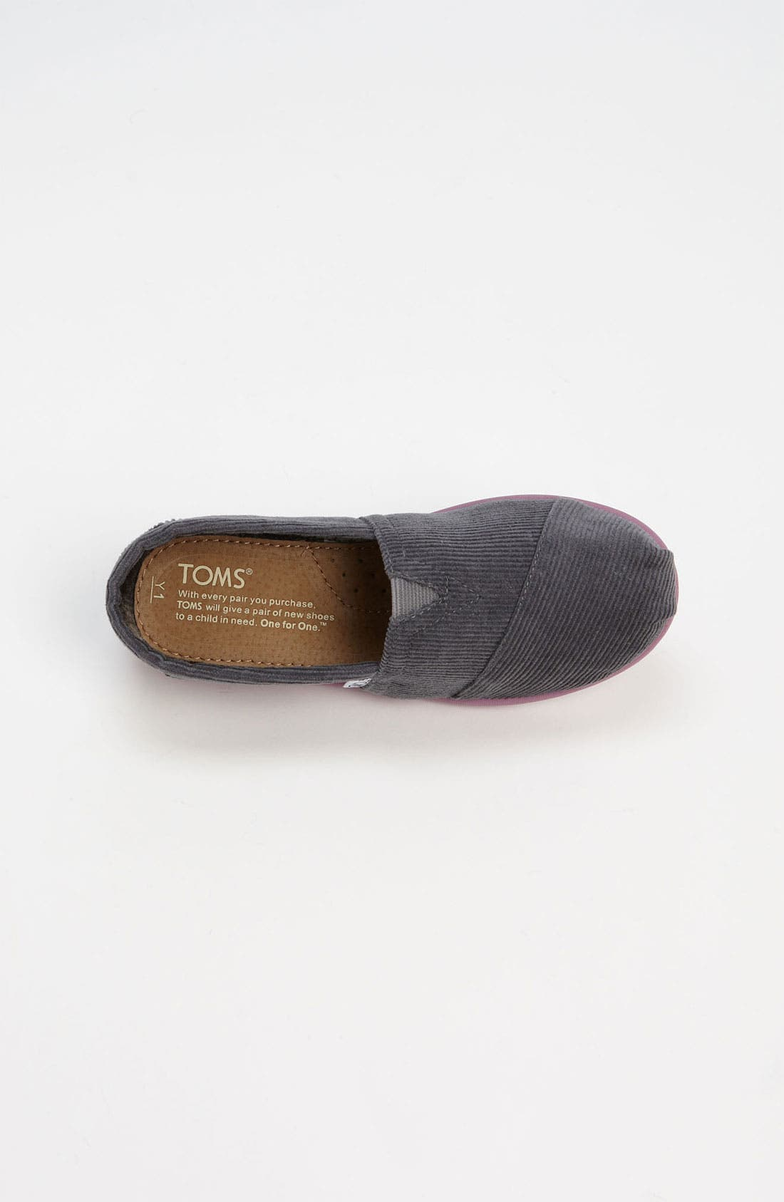 Alternate Image 3  - TOMS 'Classic' Corduroy Slip-On (Toddler, Little Kid & Big Kid)
