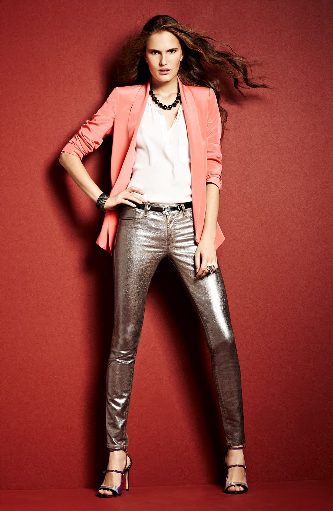 Alternate Image 6  - Truth and Pride Shawl Collar Silk Blazer
