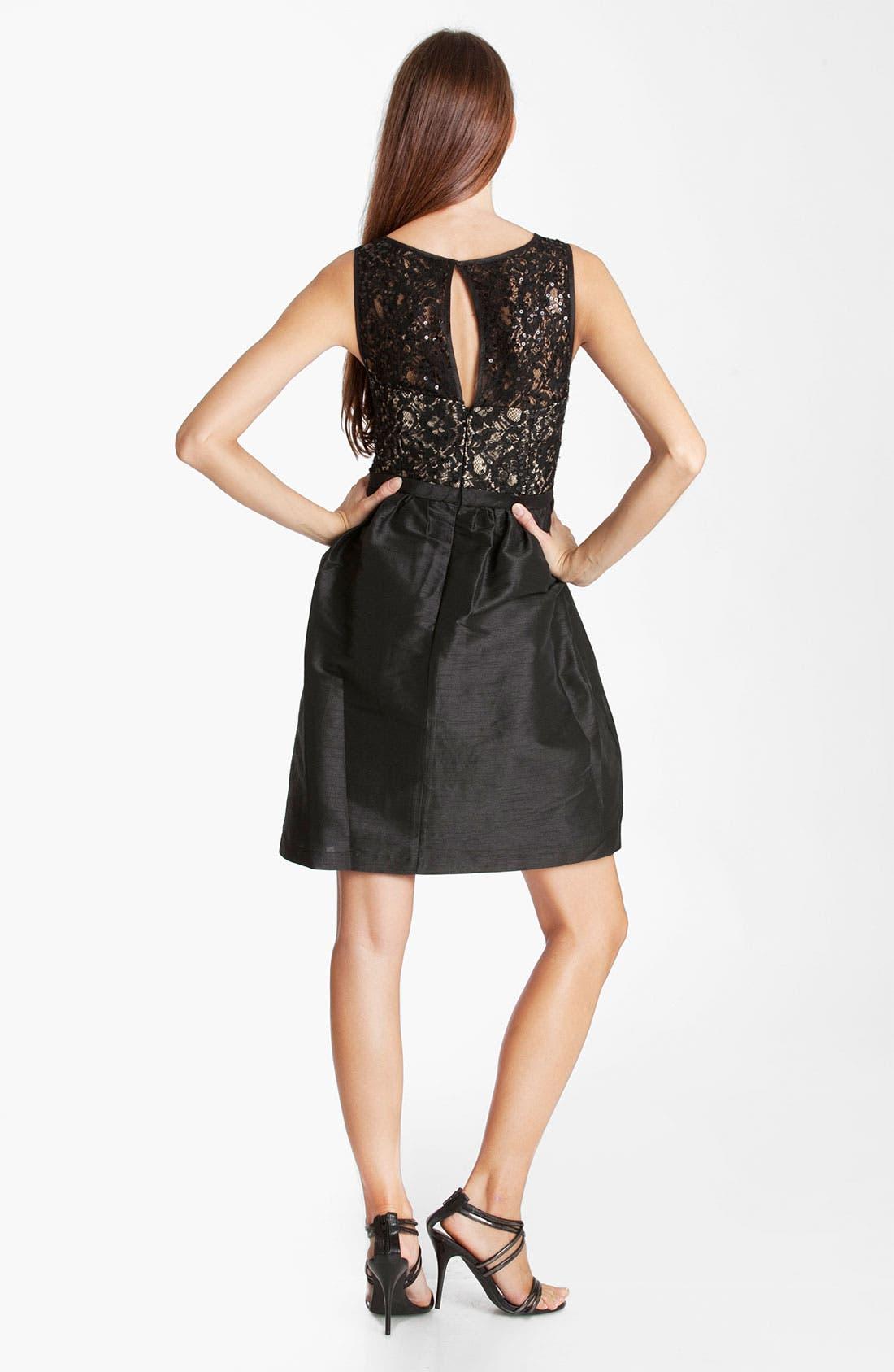 Alternate Image 2  - JS Boutique Beaded Fit & Flare Dress