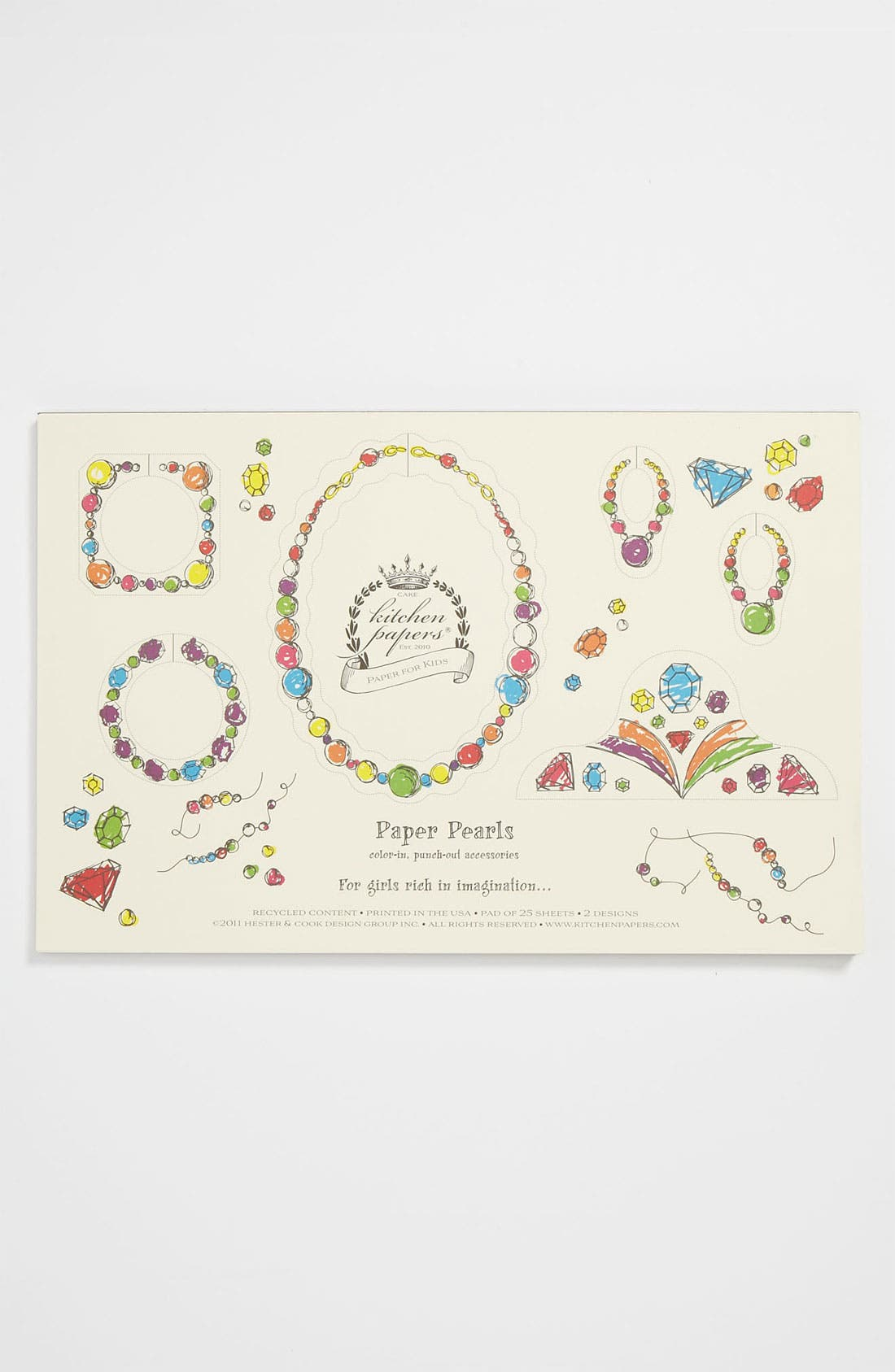 Alternate Image 1 Selected - Kitchen Papers by Cake 'Princess' Kids Paper Placemat Pad