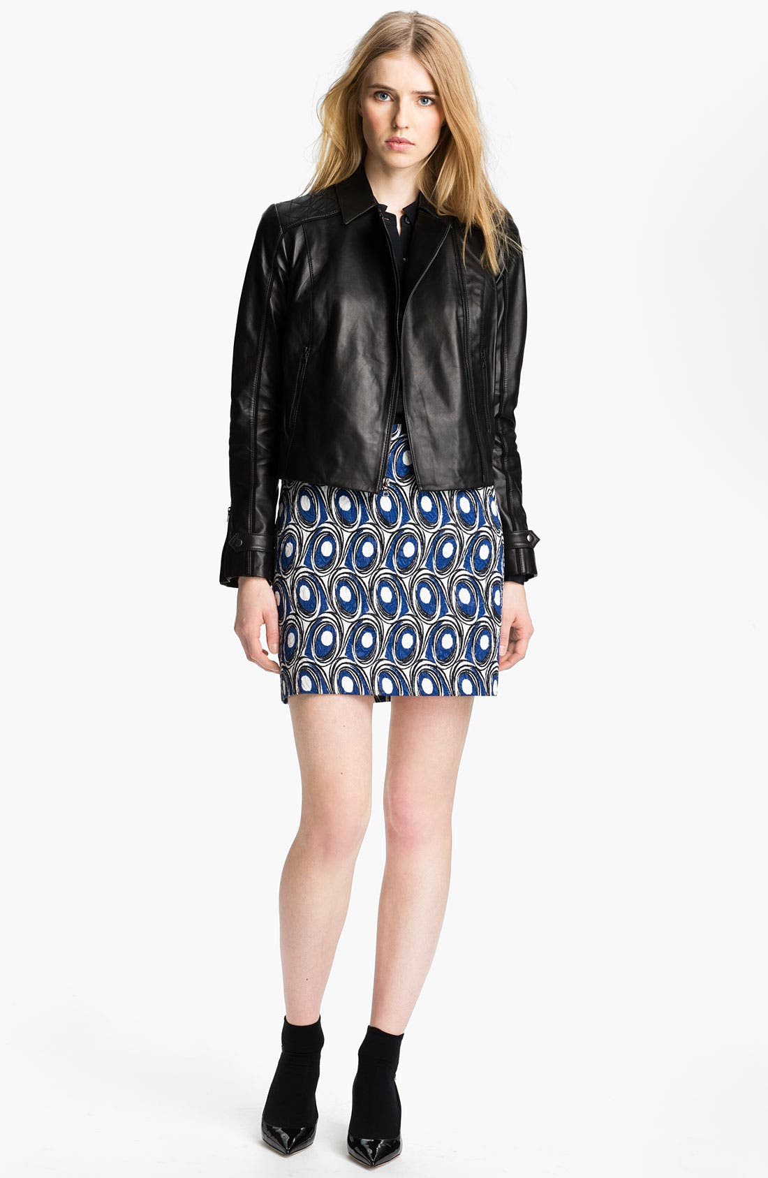 Main Image - Miss Wu Leather Biker Jacket (Nordstrom Exclusive)