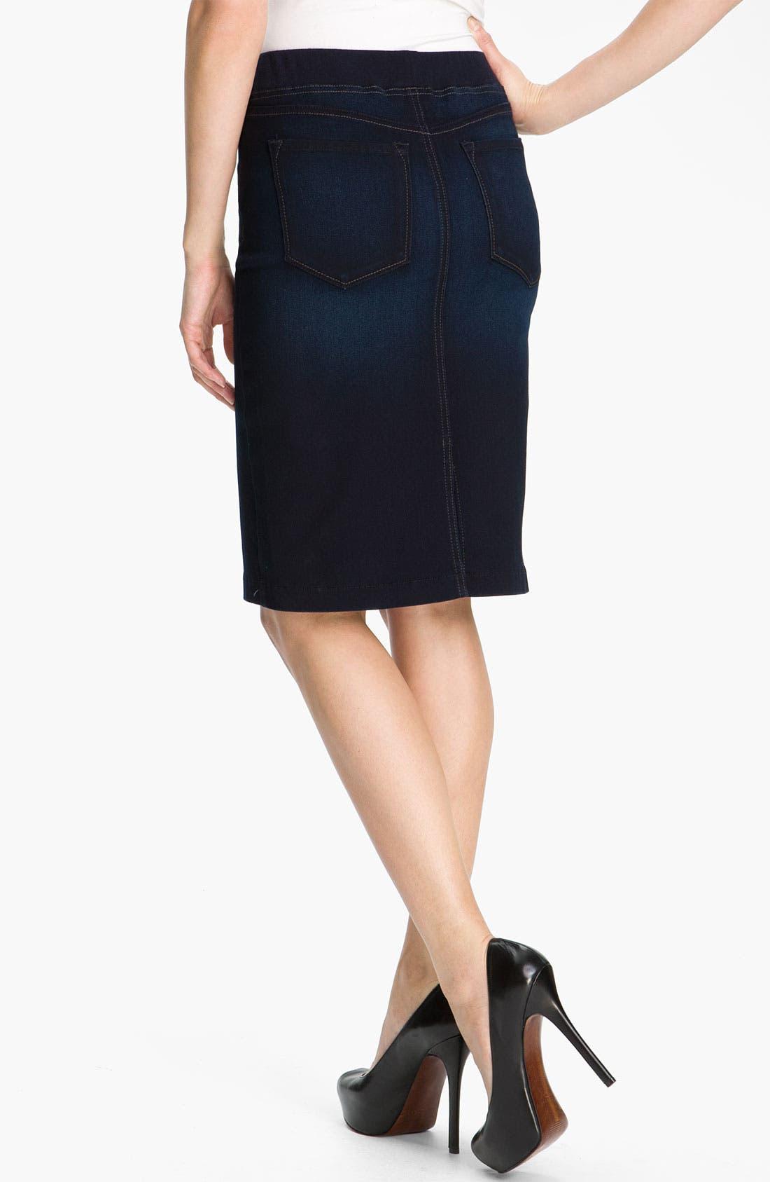 Alternate Image 2  - NYDJ 'Caitlyn' Pull-On Denim Skirt (Petite)