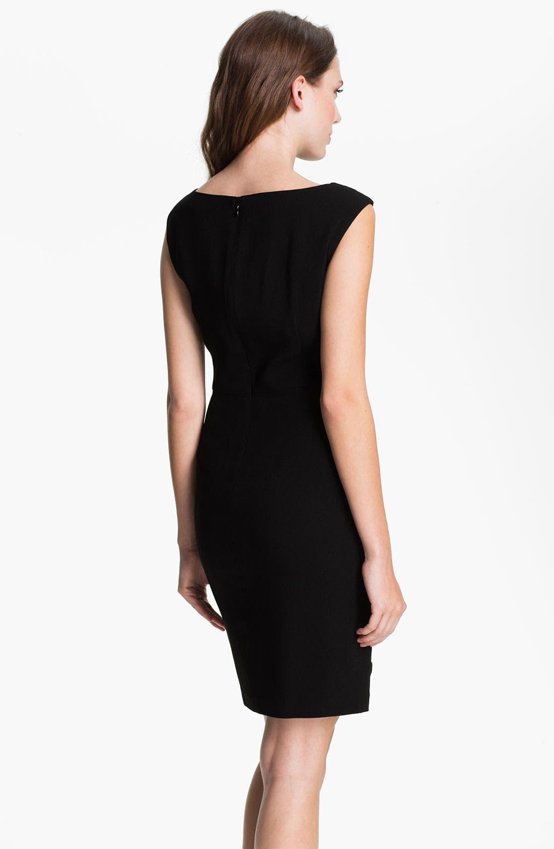 Alternate Image 2  - Suzi Chin for Maggy Boutique Side Draped Sheath Dress