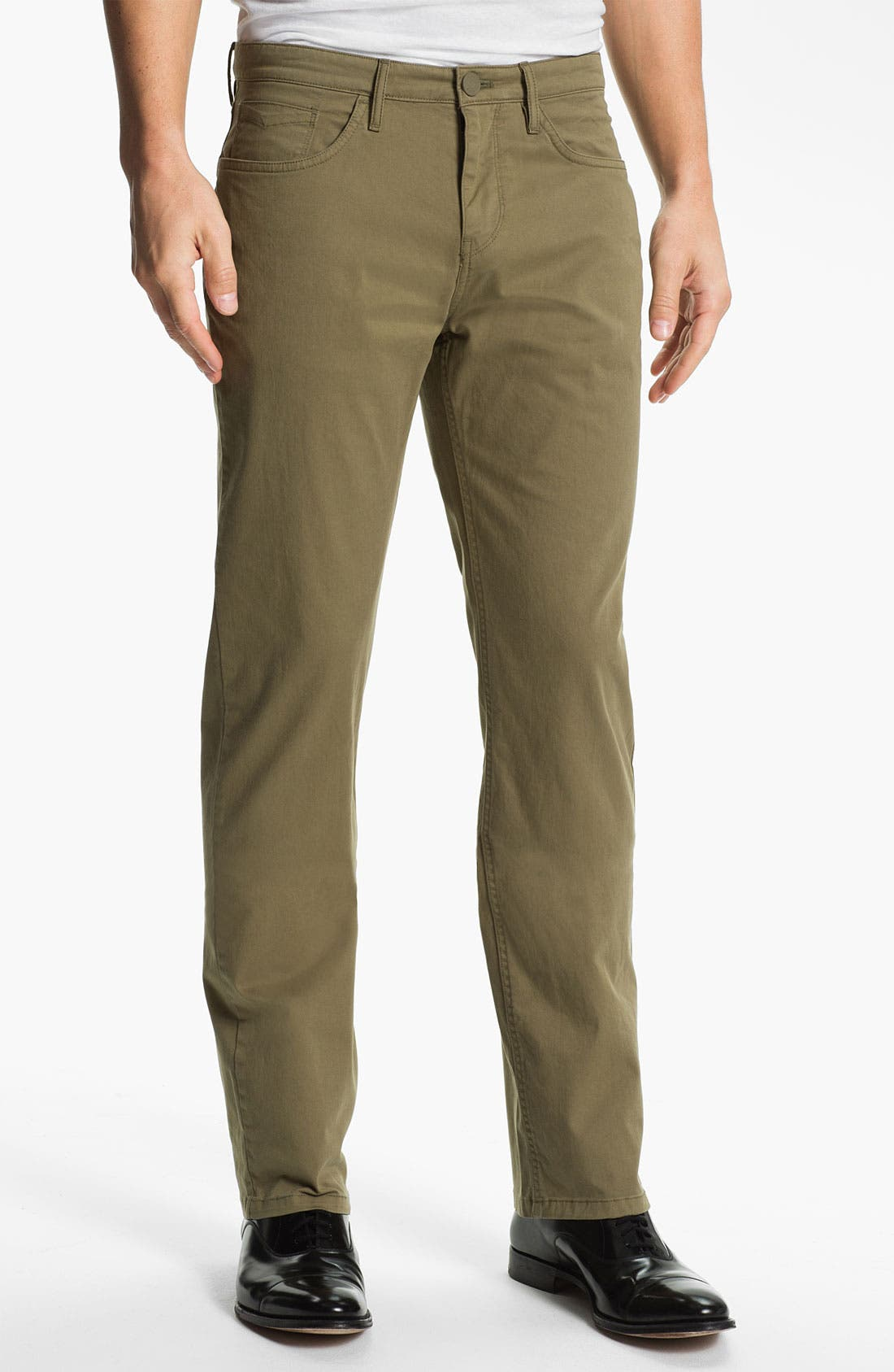 Alternate Image 1 Selected - Burberry Brit Straight Leg Twill Pants