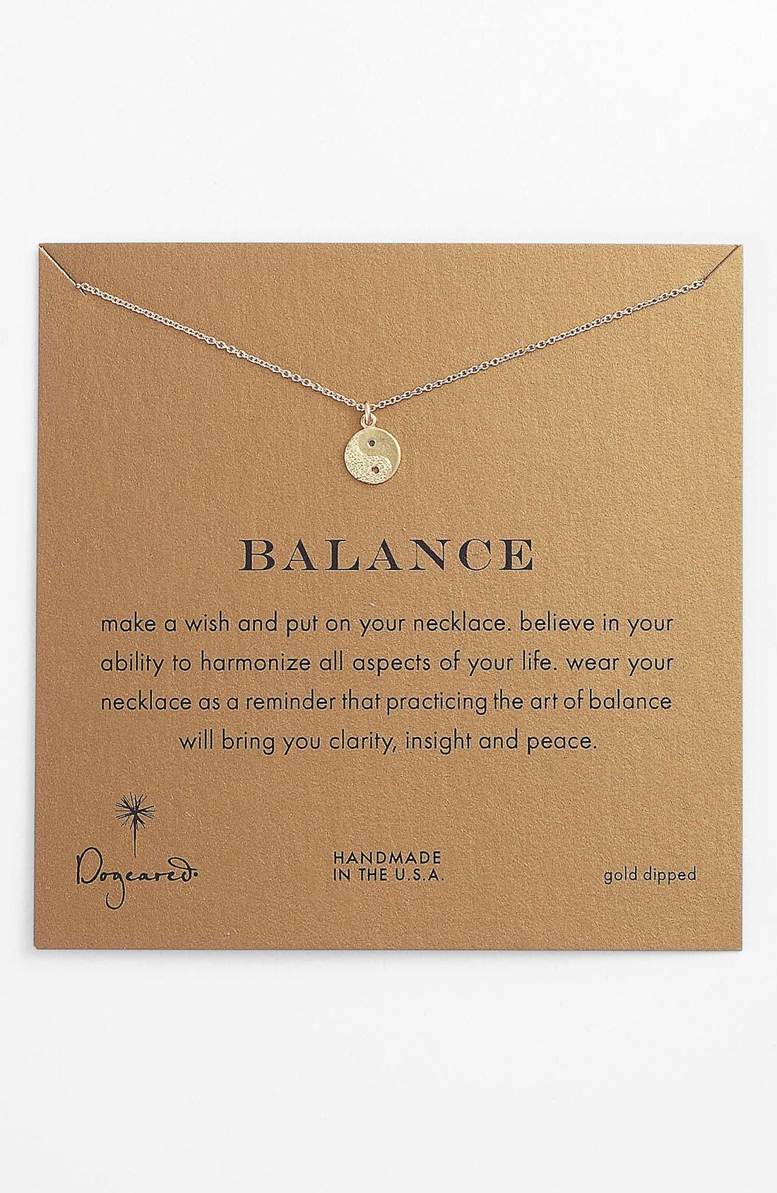 Alternate Image 1 Selected - Dogeared 'Reminder - Balance' Pendant Necklace
