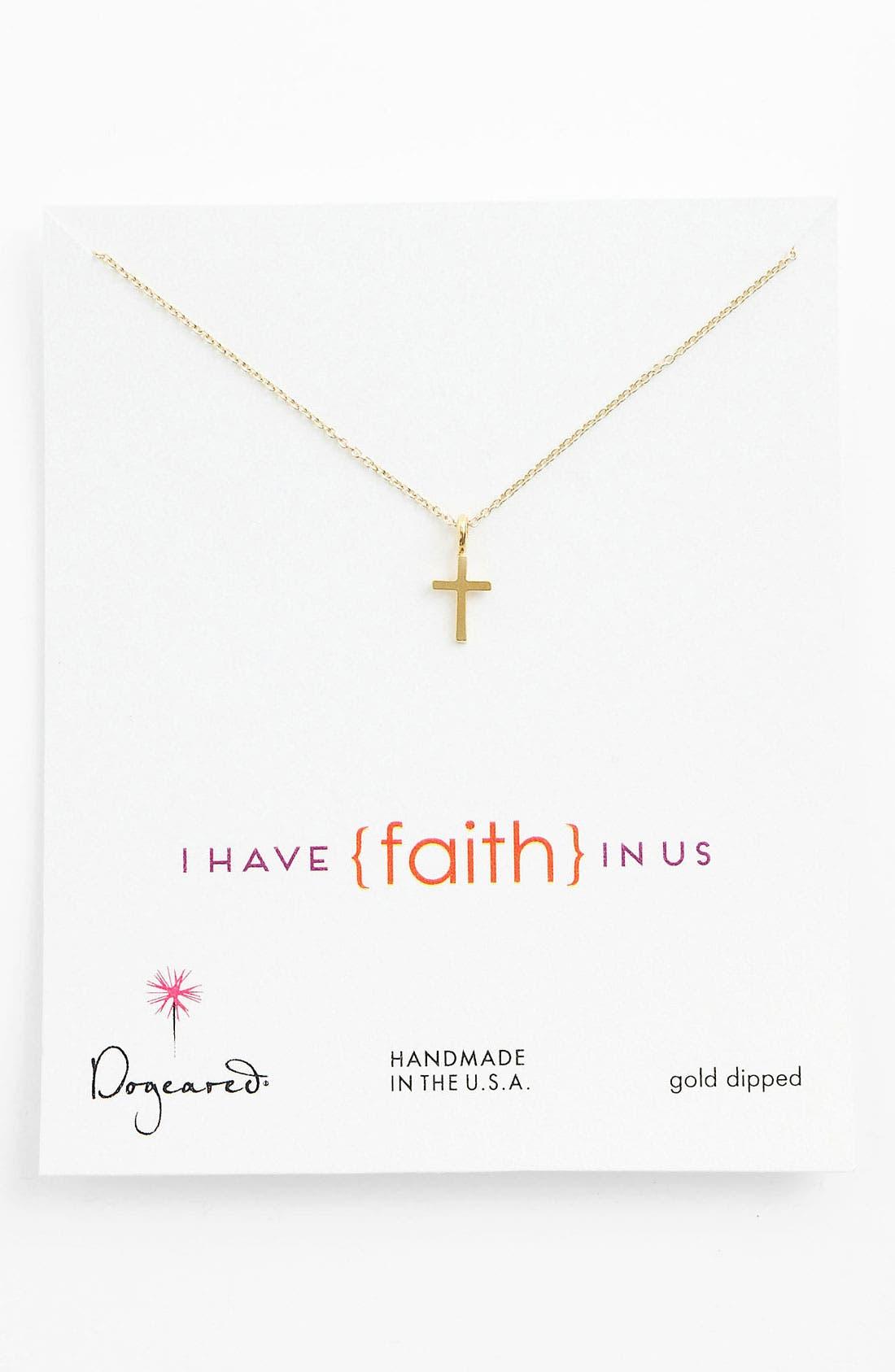 Main Image - Dogeared 'Faith' Pendant Necklace
