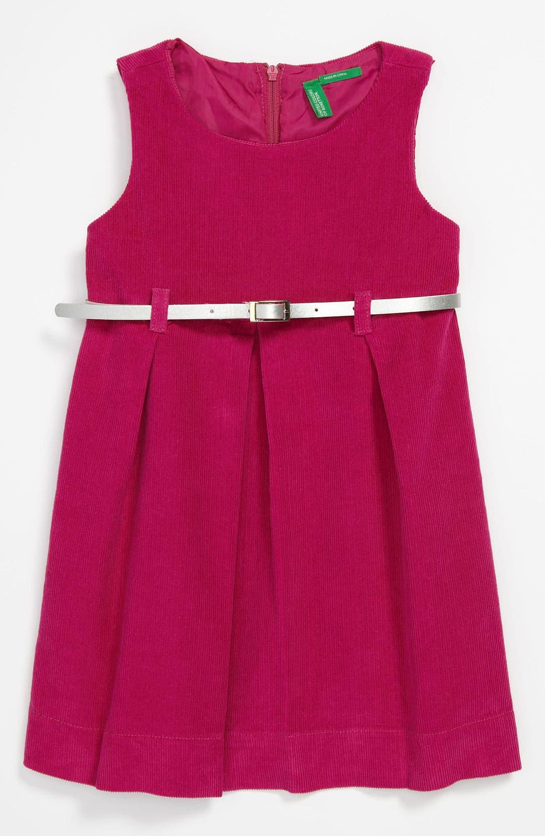 Alternate Image 1 Selected - United Colors of Benetton Kids Corduroy Dress (Infant)