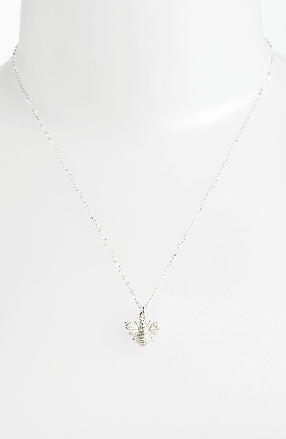 Alternate Image 2  - Dogeared 'Love - Bee Mine' Pendant Necklace