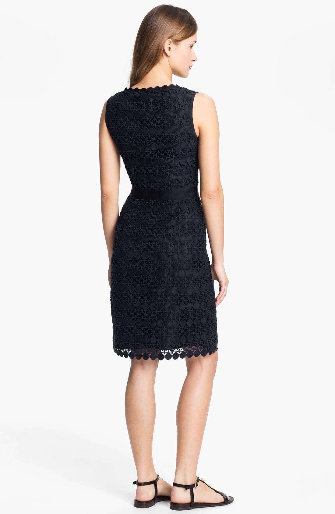 Alternate Image 2  - Tory Burch 'Ginevra' Lace Sheath Dress