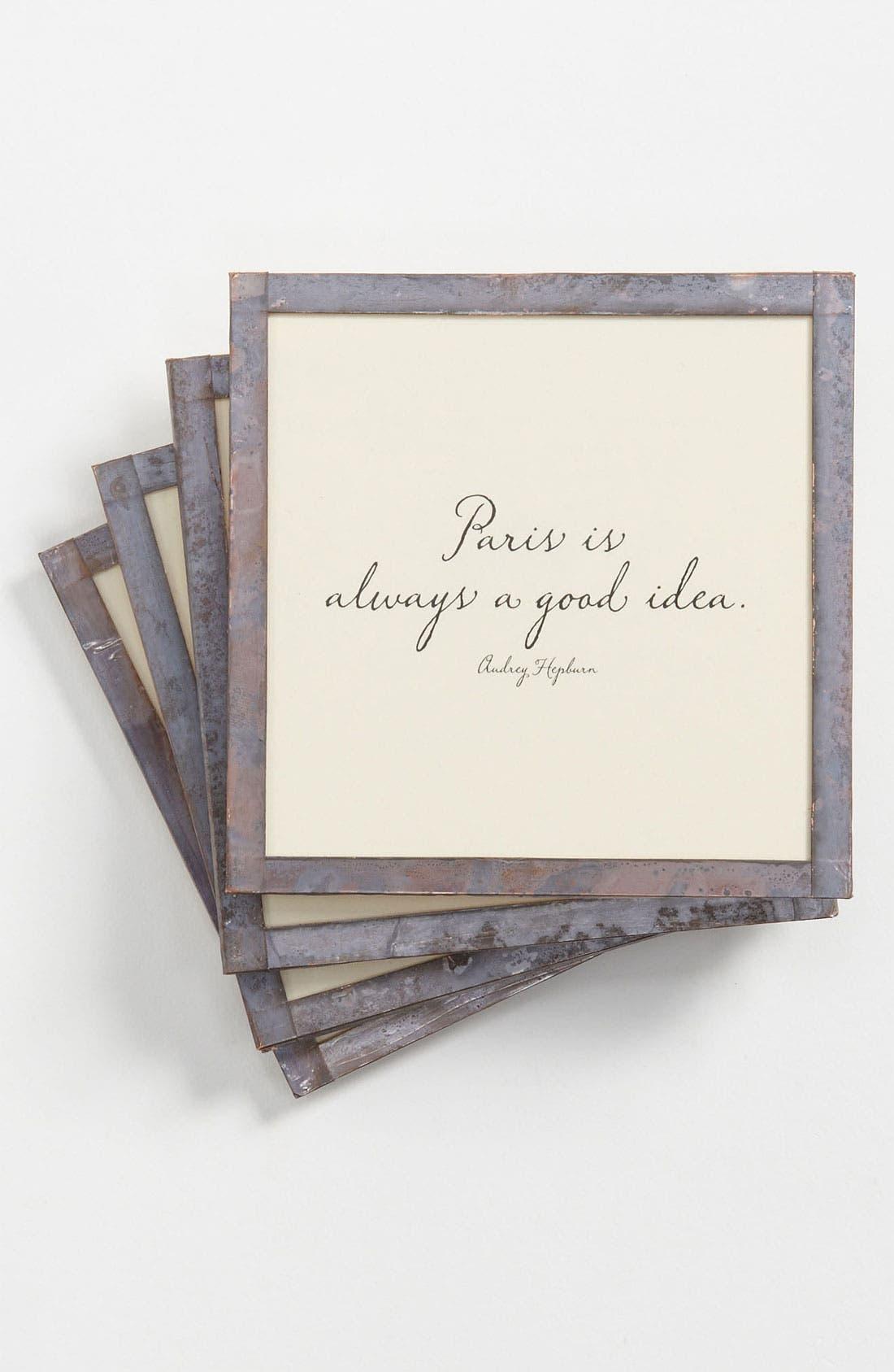 Alternate Image 1 Selected - Ben's Garden 'Paris Is Always' Coaster Set